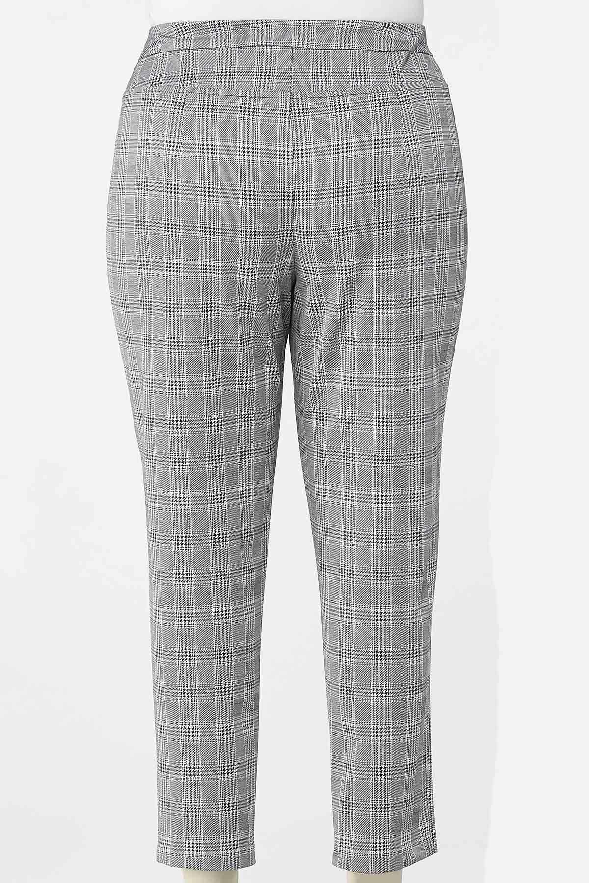 Plus Petite Houndstooth Slim Pants (Item #44671886)