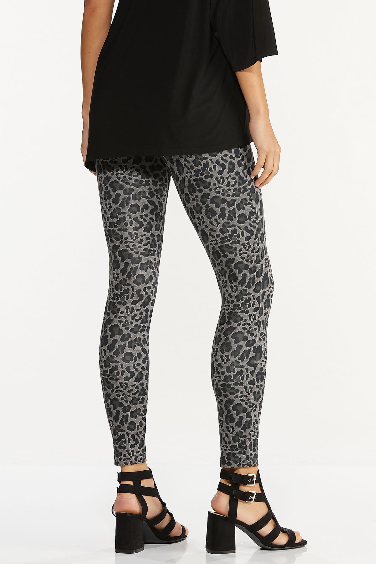 Petite Leopard Ponte Leggings (Item #44671954)