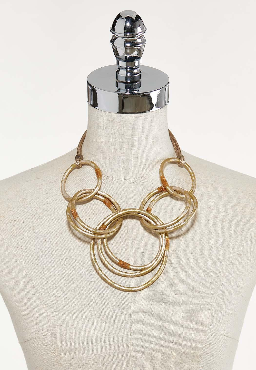 Gold Link Circle Necklace (Item #44672082)