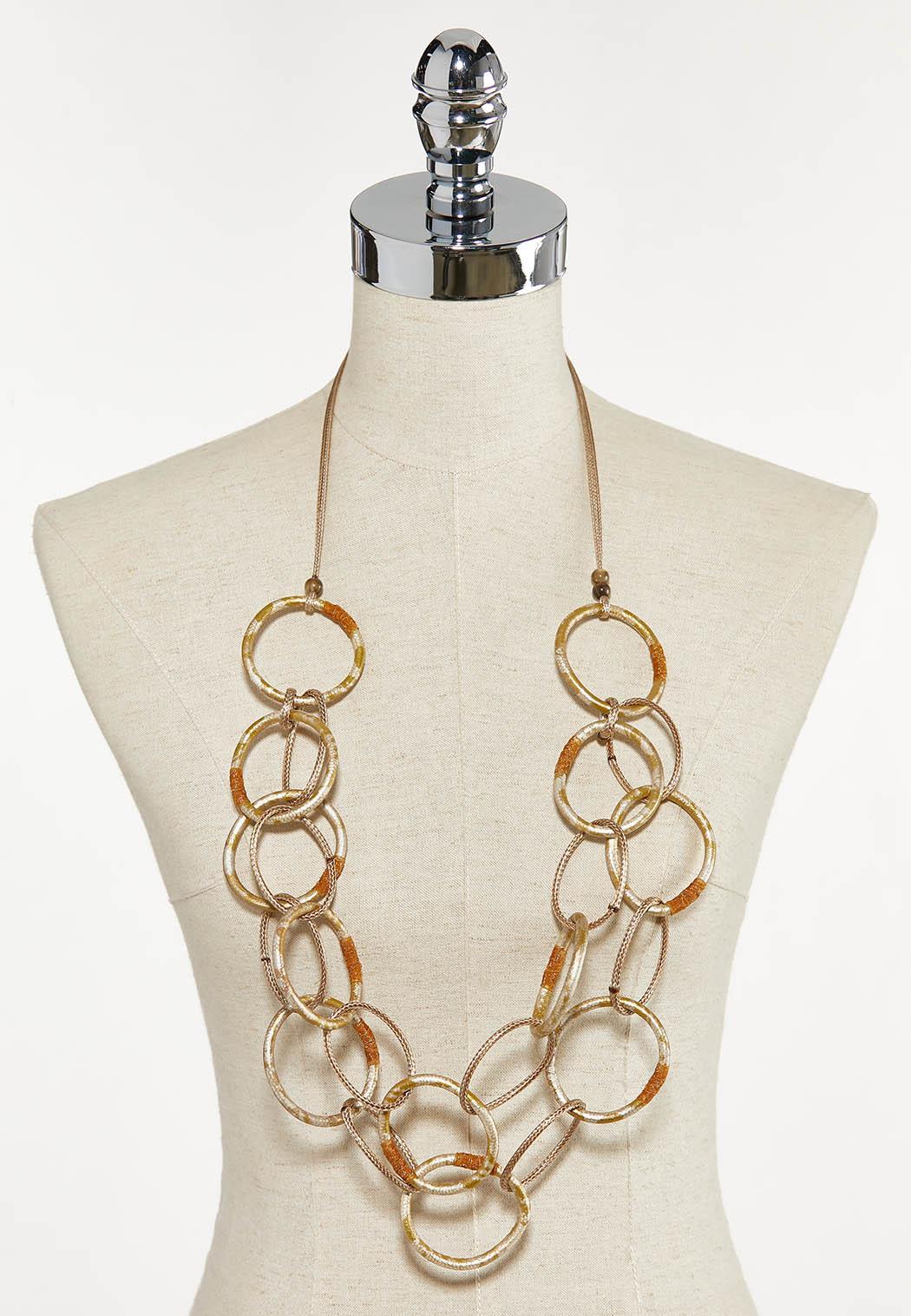 Gold Circle Bib Necklace (Item #44672084)