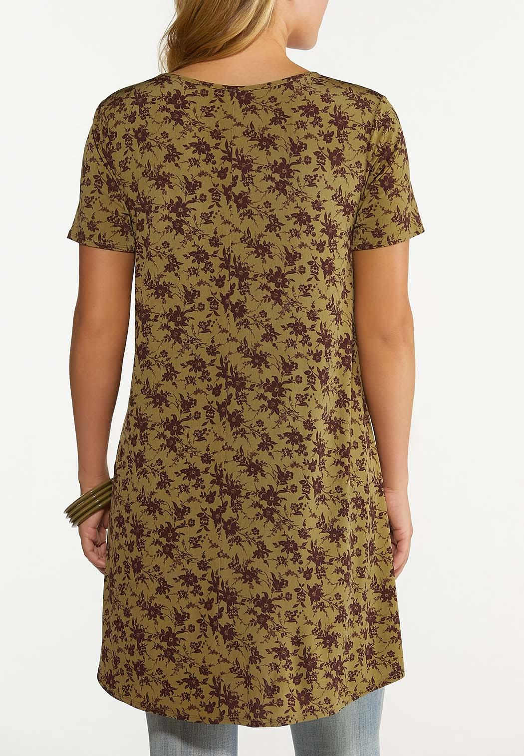 Olive Floral Tunic (Item #44673060)