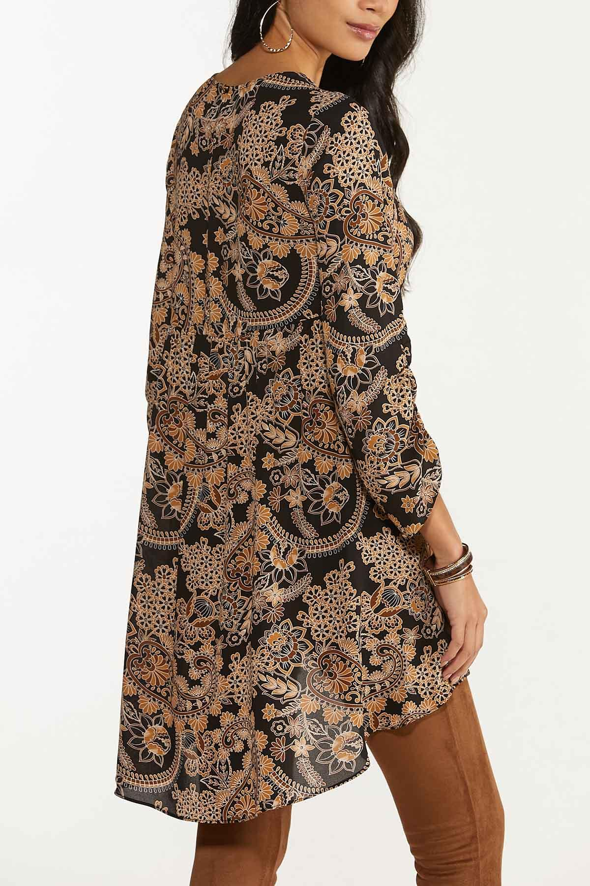 Floral Paisley High-Low Top (Item #44674309)
