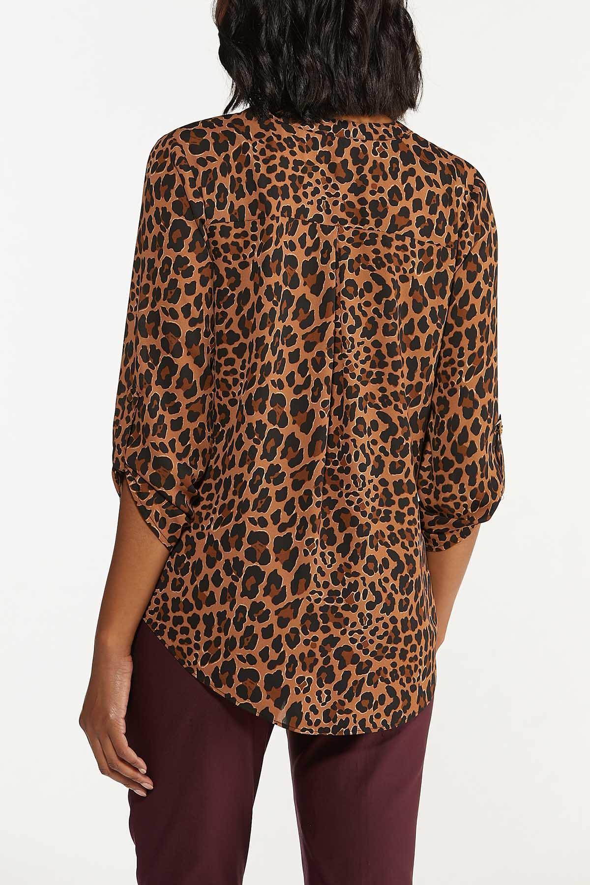Leopard Zip Front Top (Item #44674359)