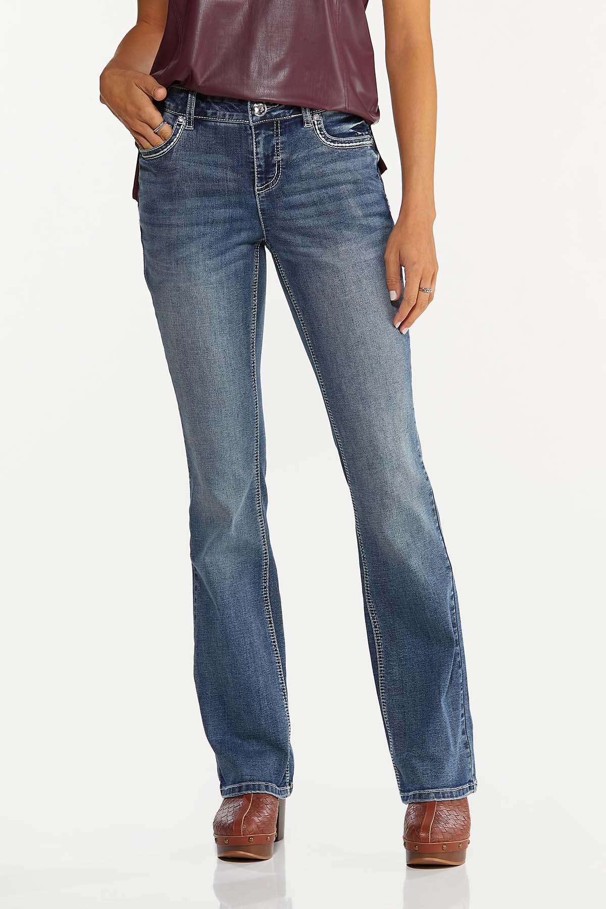 Petite Star Studded Bootcut Jeans (Item #44674425)