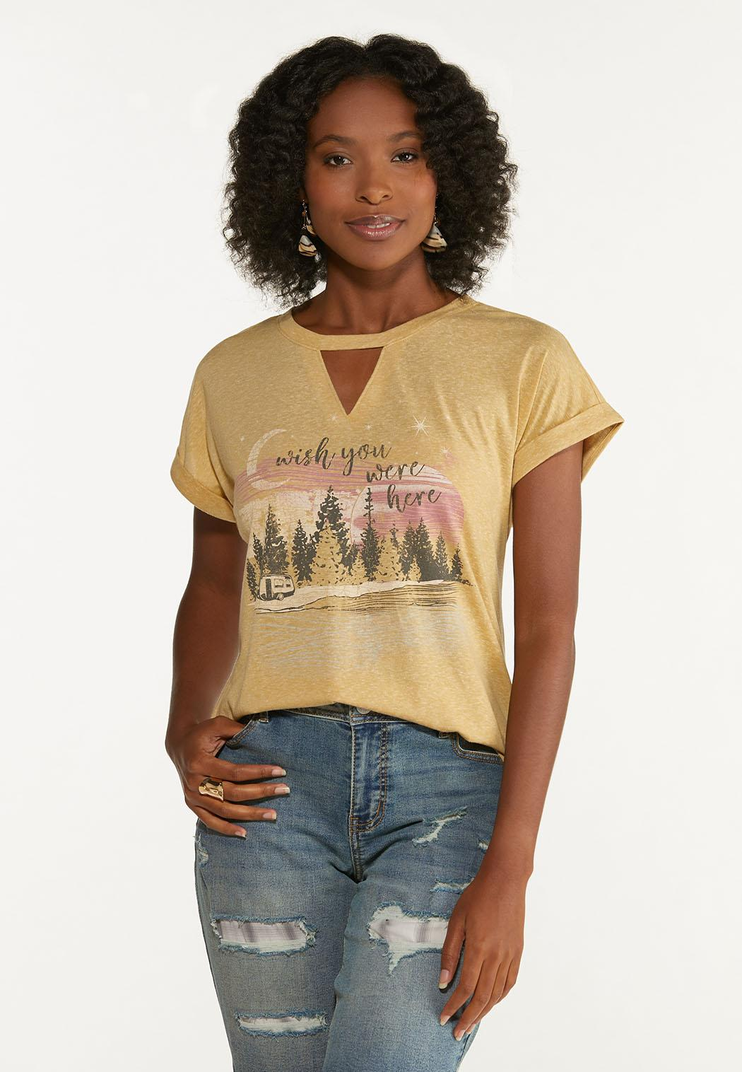 Plus Size Wish You Were Here Tee (Item #44674701)