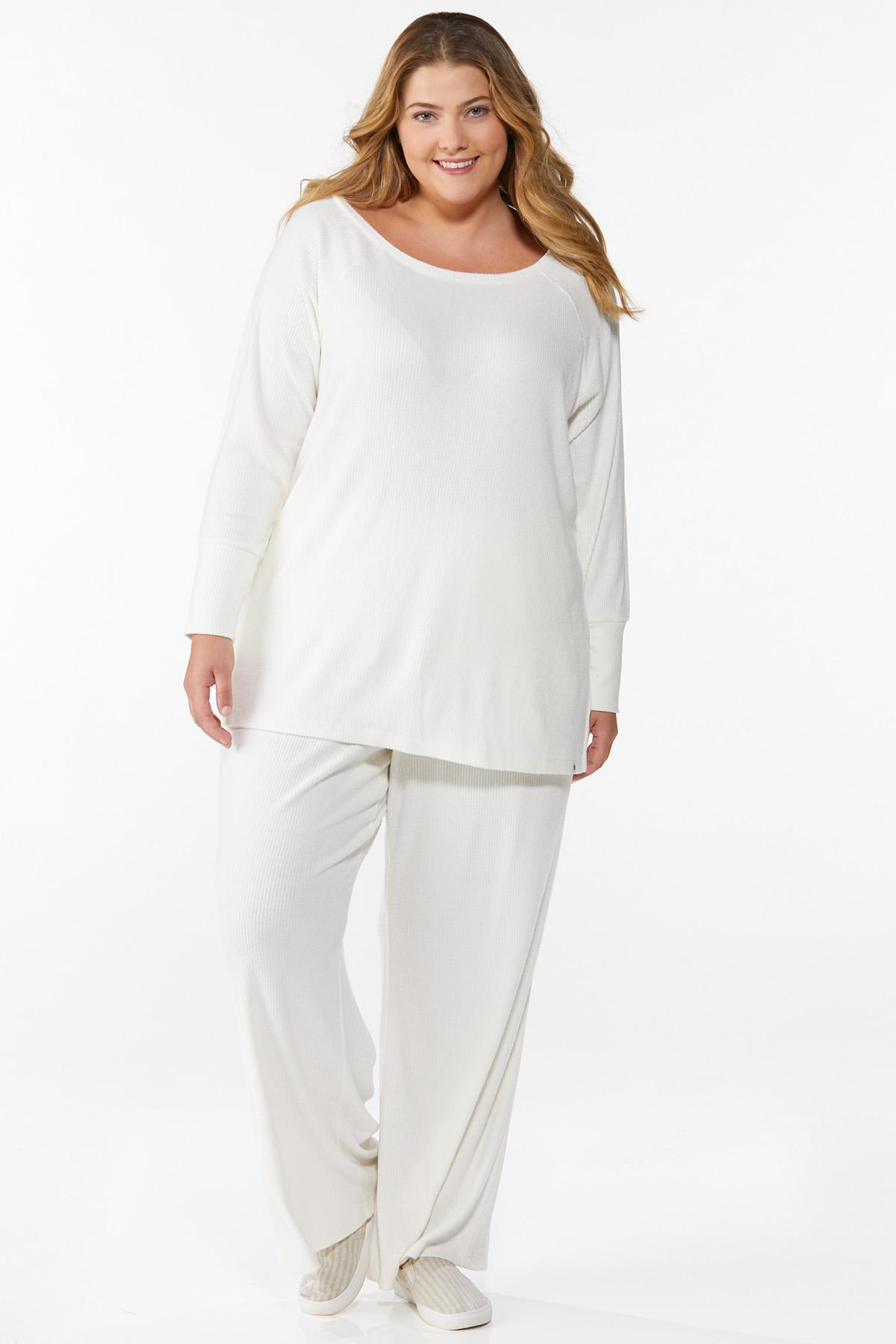 Plus Size Ribbed Lounge Top (Item #44674709)