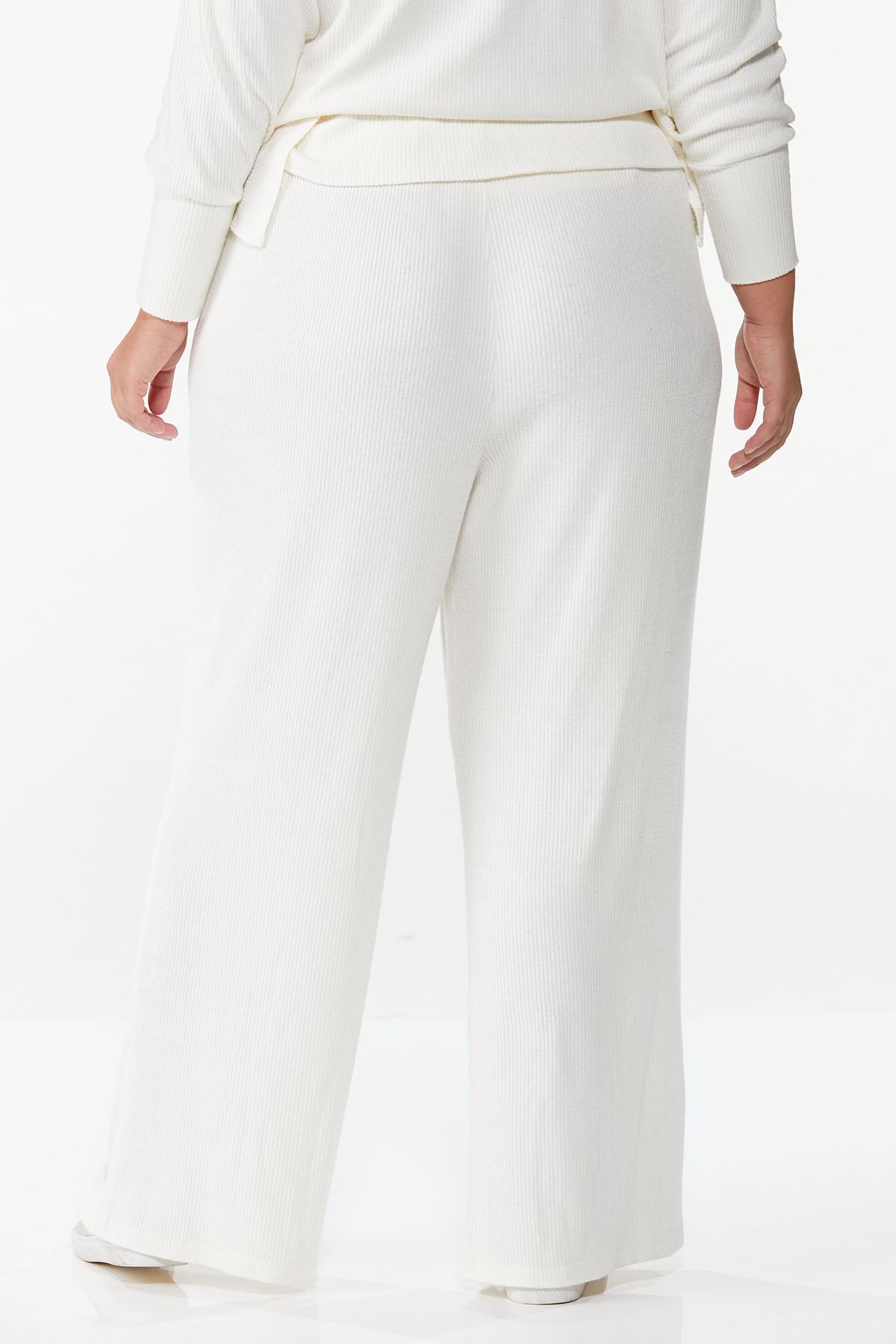Plus Size Cozy Ribbed Lounge Pants (Item #44674715)
