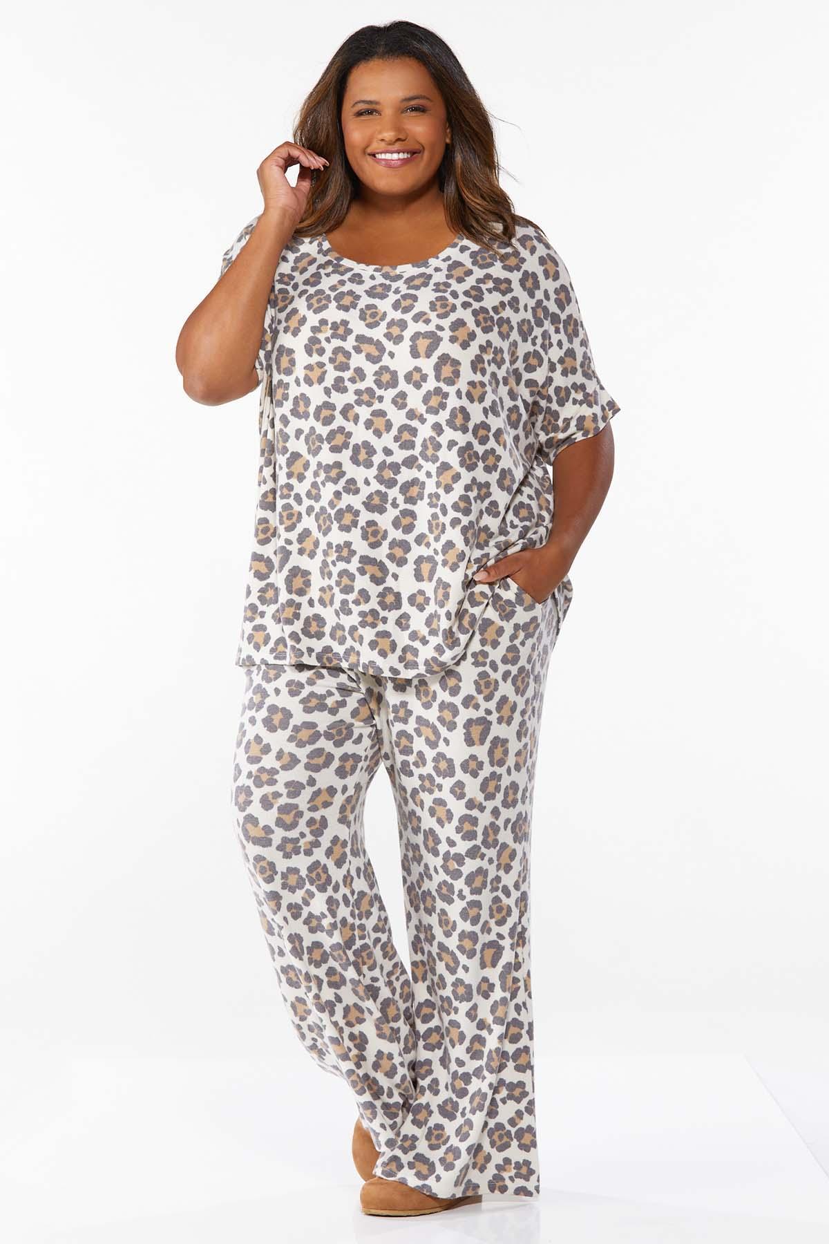 Plus Size Leopard Lounge Top (Item #44675013)
