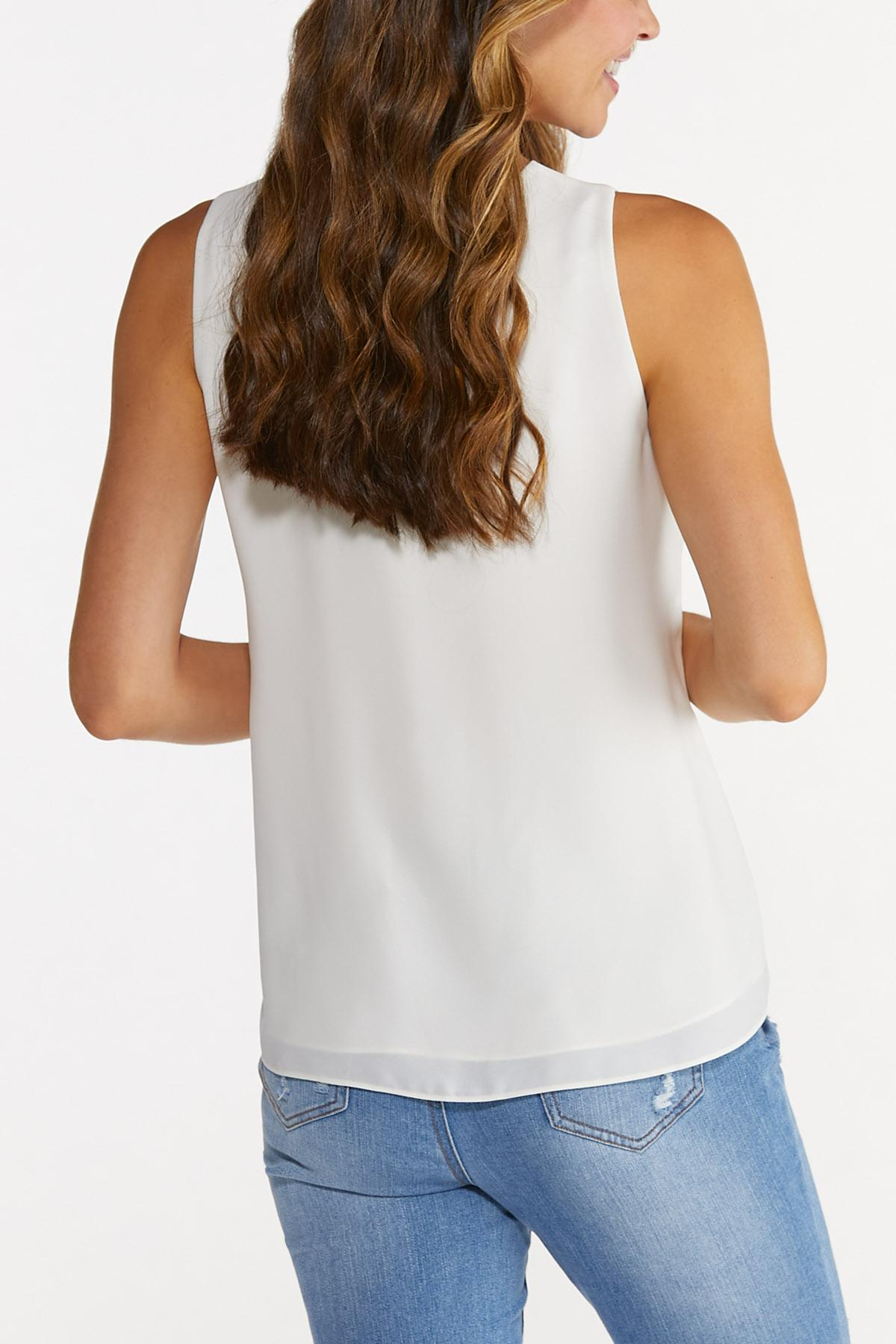 Plus Size Double Layer Solid Tank (Item #44675130)