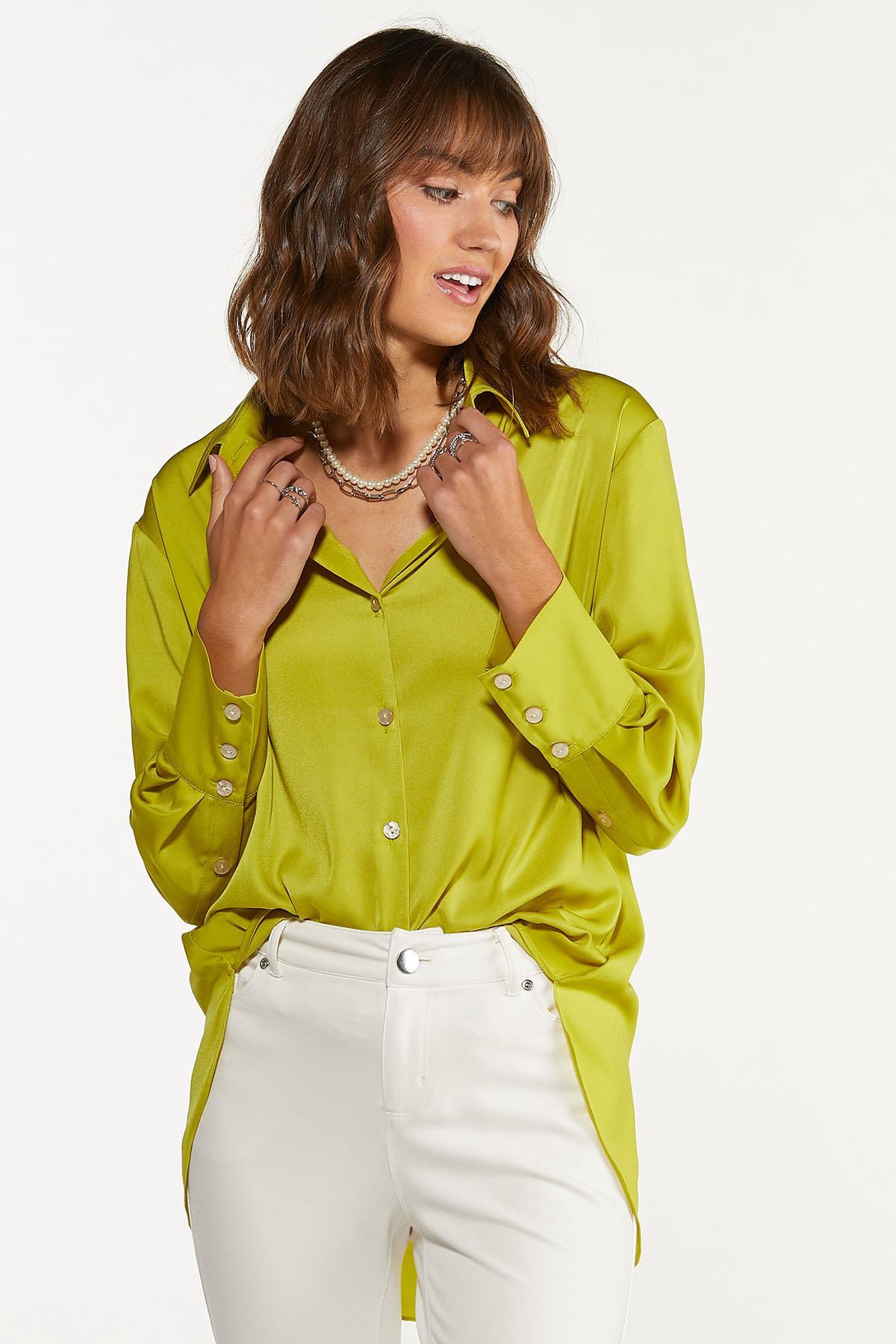 Plus Size Twist Of Lime Tunic (Item #44675275)