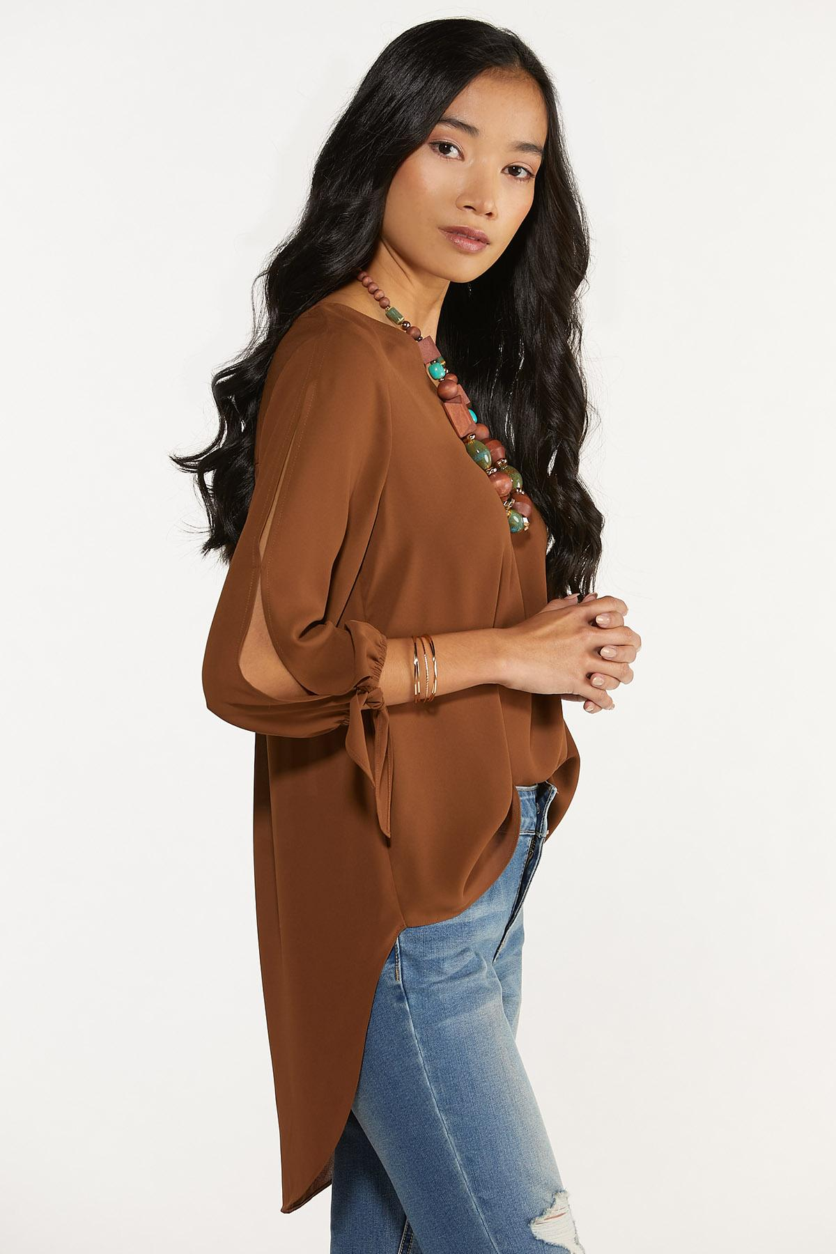 Plus Size Extreme High-Low Tunic (Item #44675302)