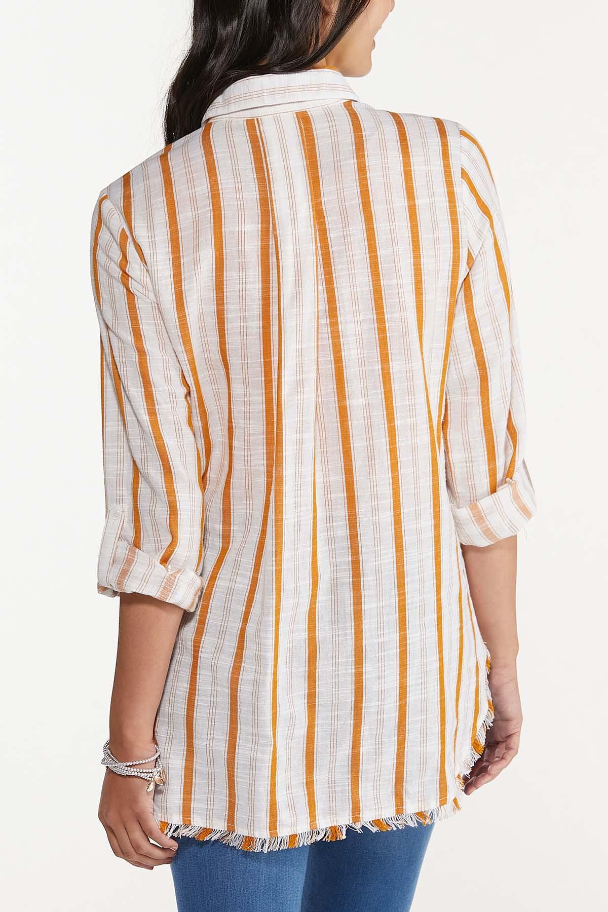 Frayed Gold Stripe Tunic (Item #44676336)