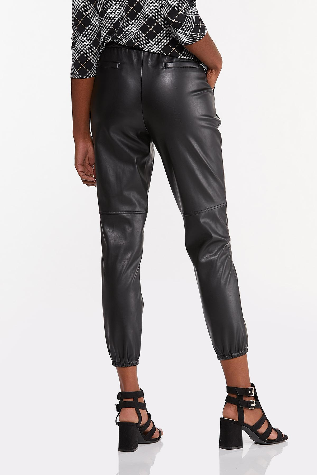 Faux Leather Joggers (Item #44677211)