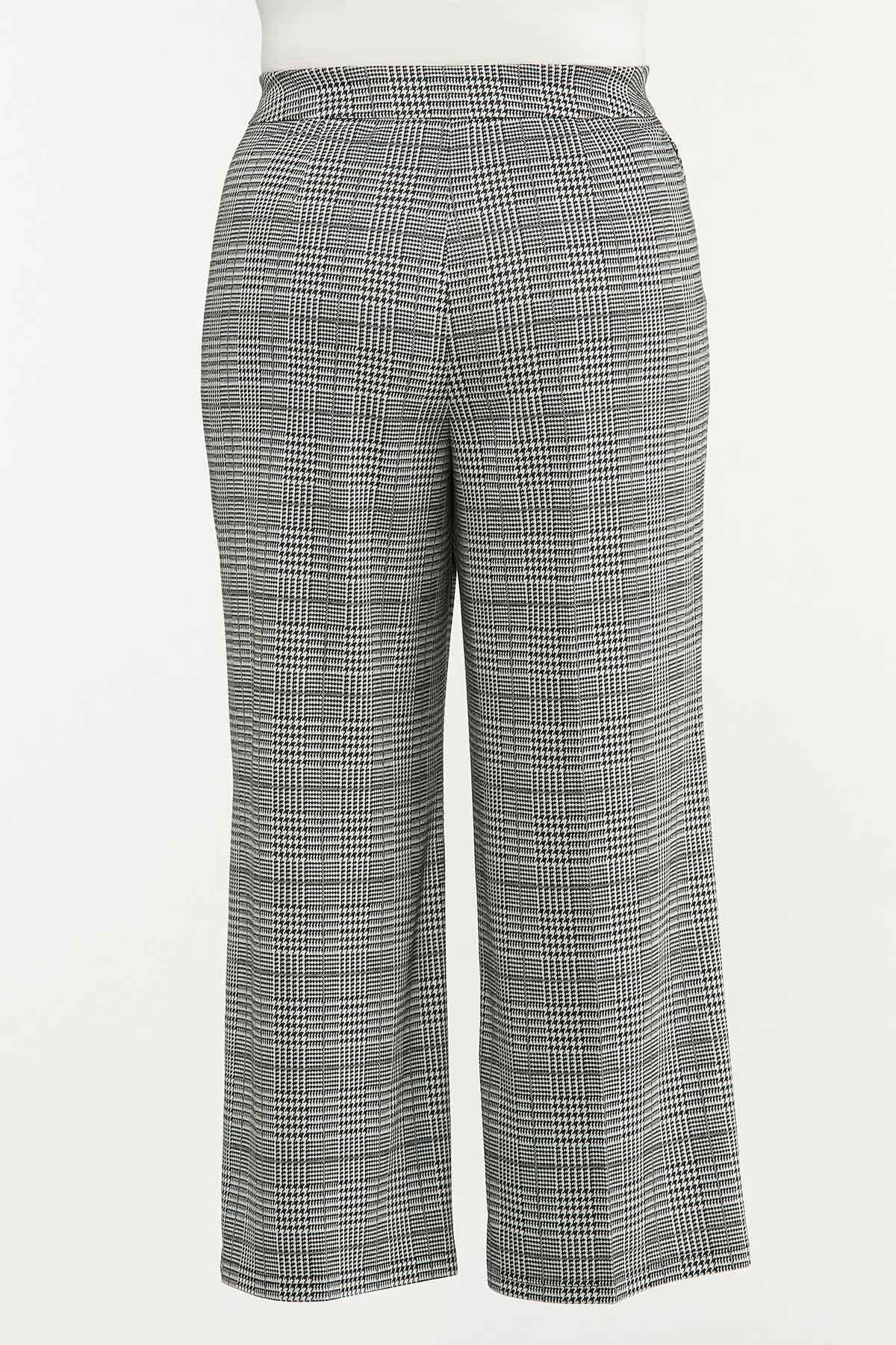 Plus Size Houndstooth Pants (Item #44677311)