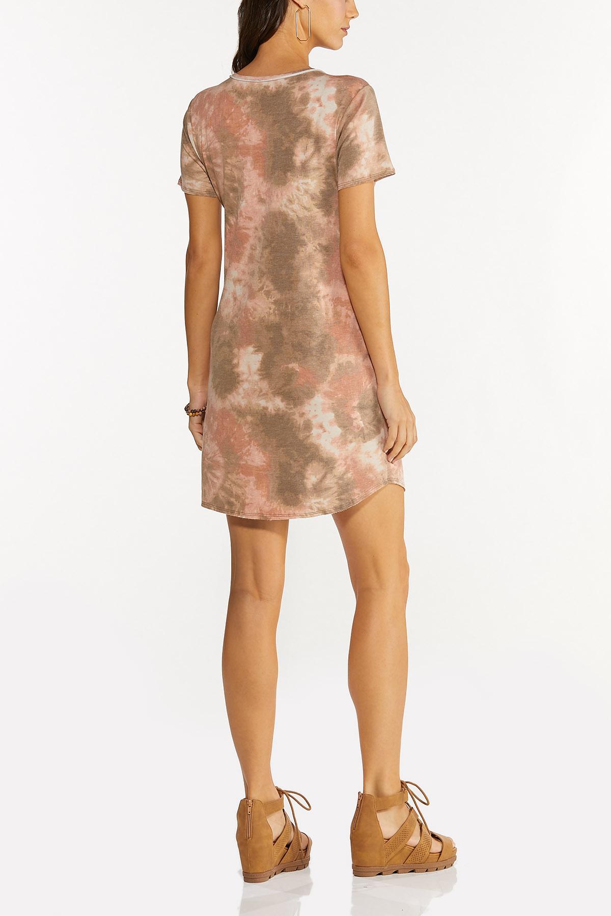 Plus Size Blush Dye French Terry Dress (Item #44678072)