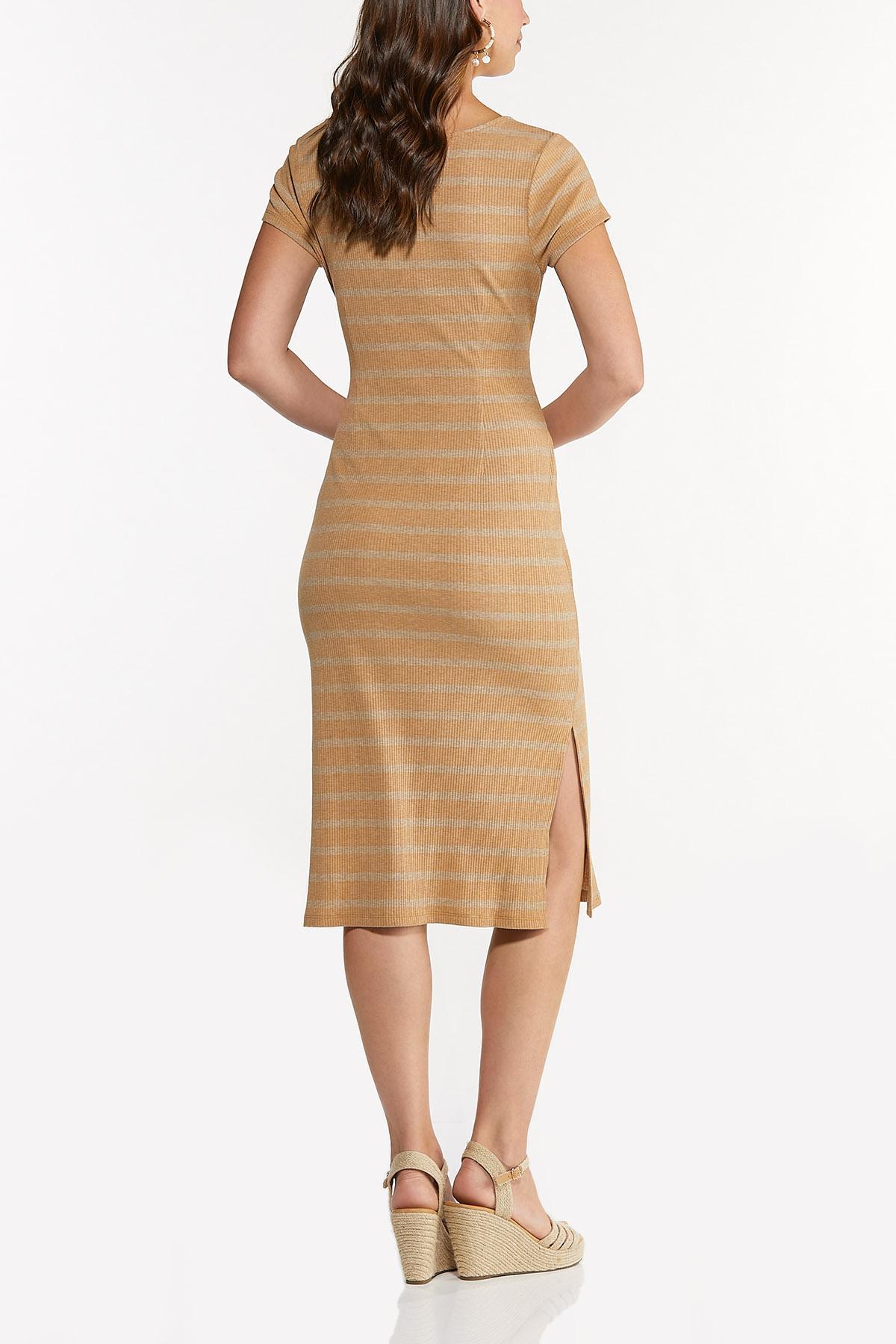 Striped Tie Waist Midi Dress (Item #44678597)