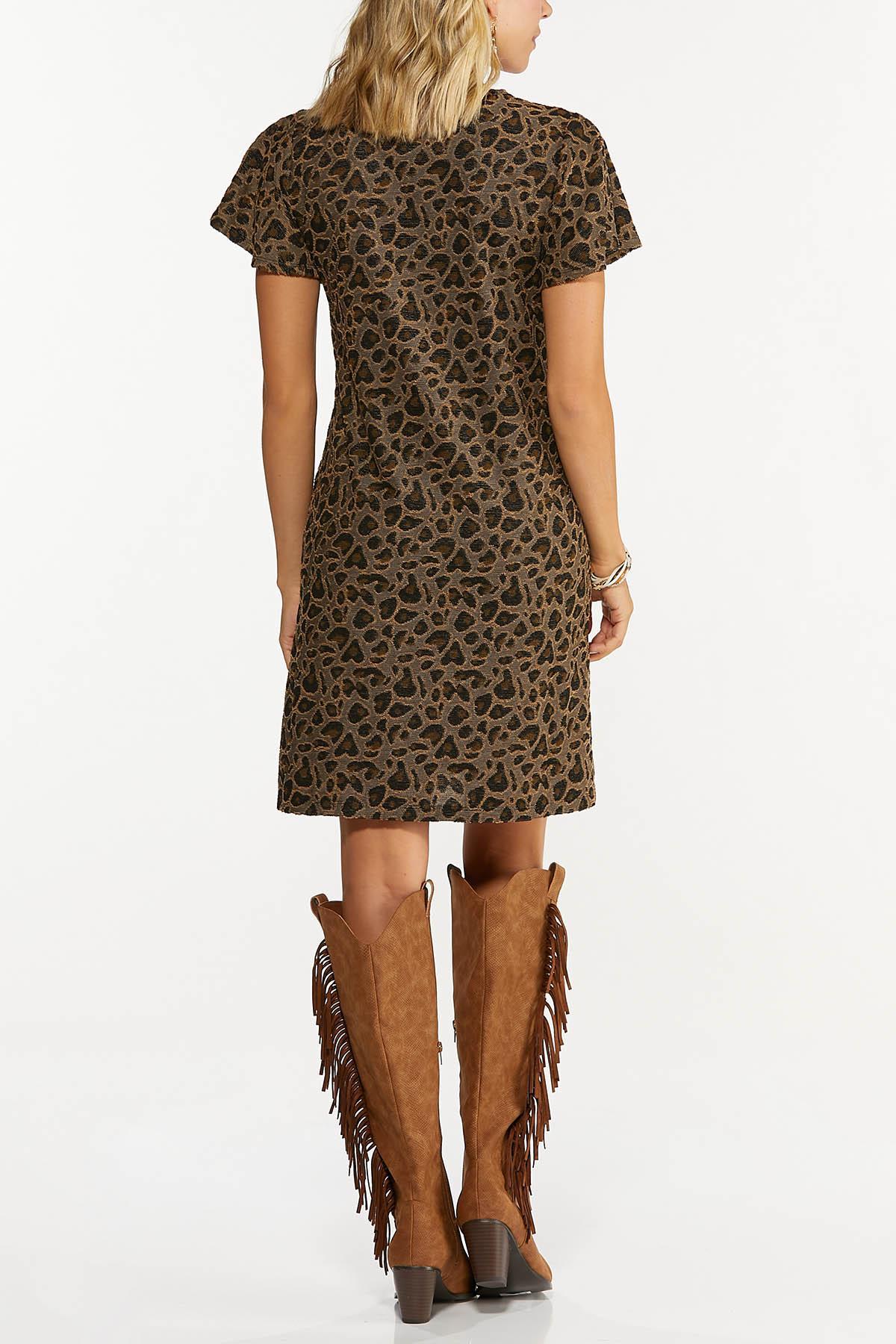 Leopard Flutter Sleeve Dress (Item #44678699)