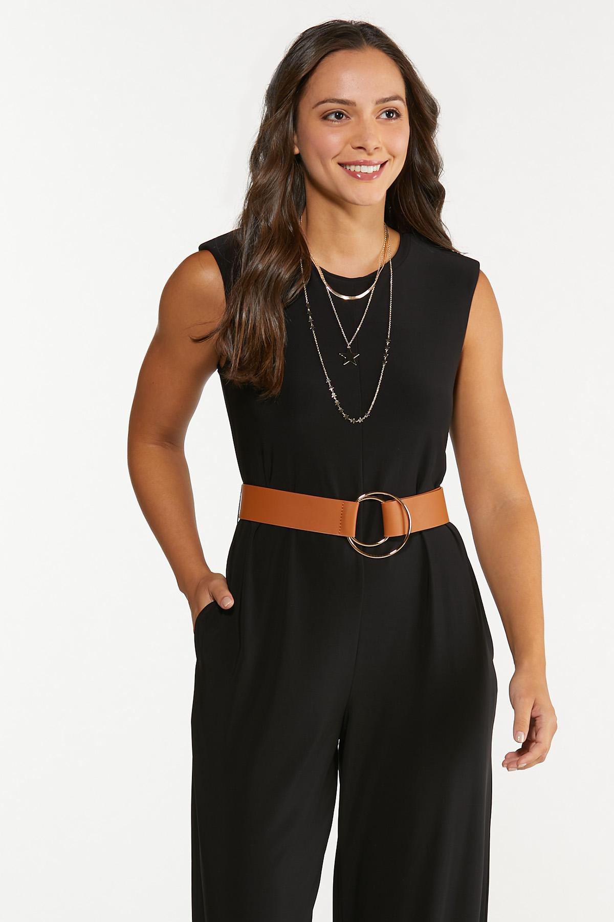 Petite Belted Jumpsuit (Item #44678917)