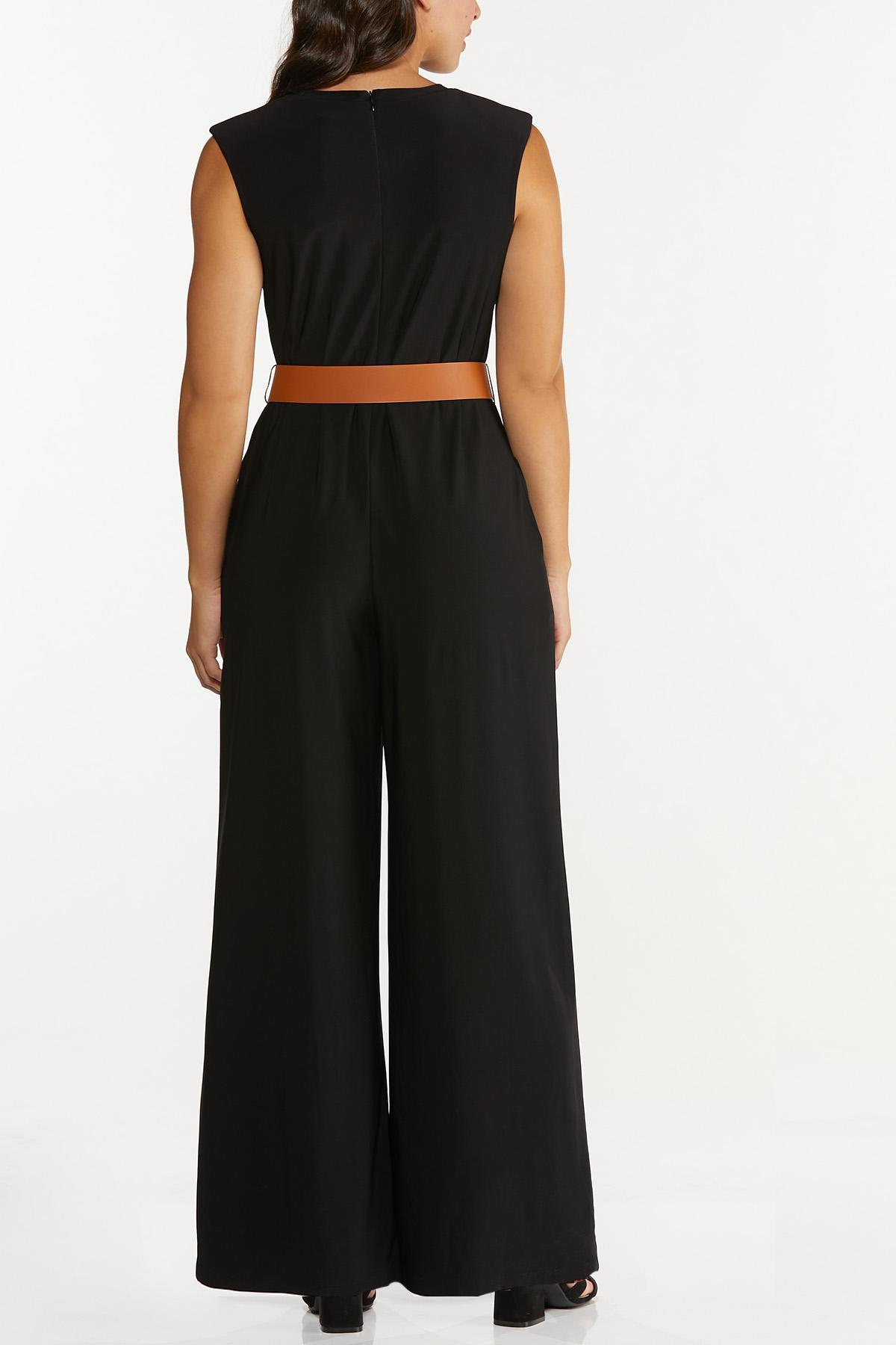 Plus Size Belted Jumpsuit (Item #44678939)
