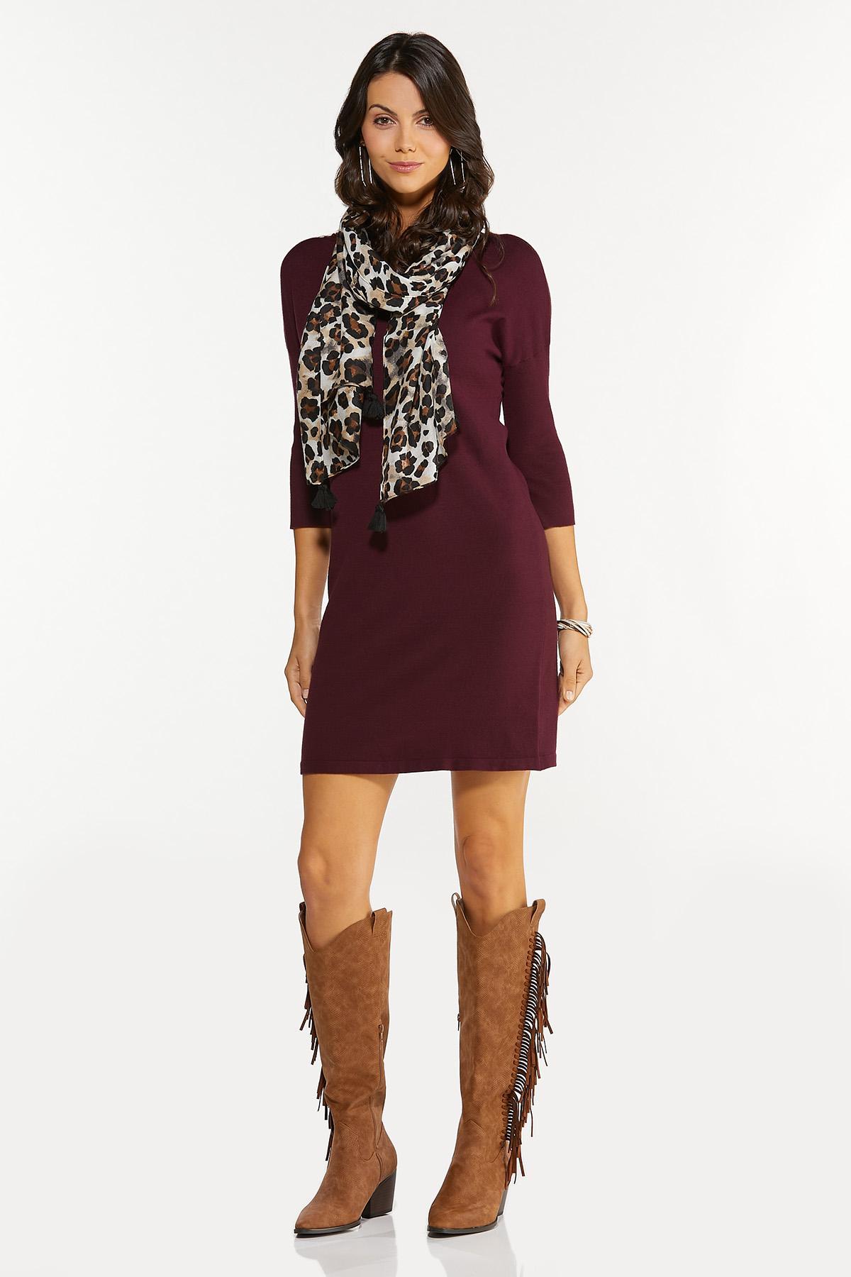 Wine Sweater Dress (Item #44679058)