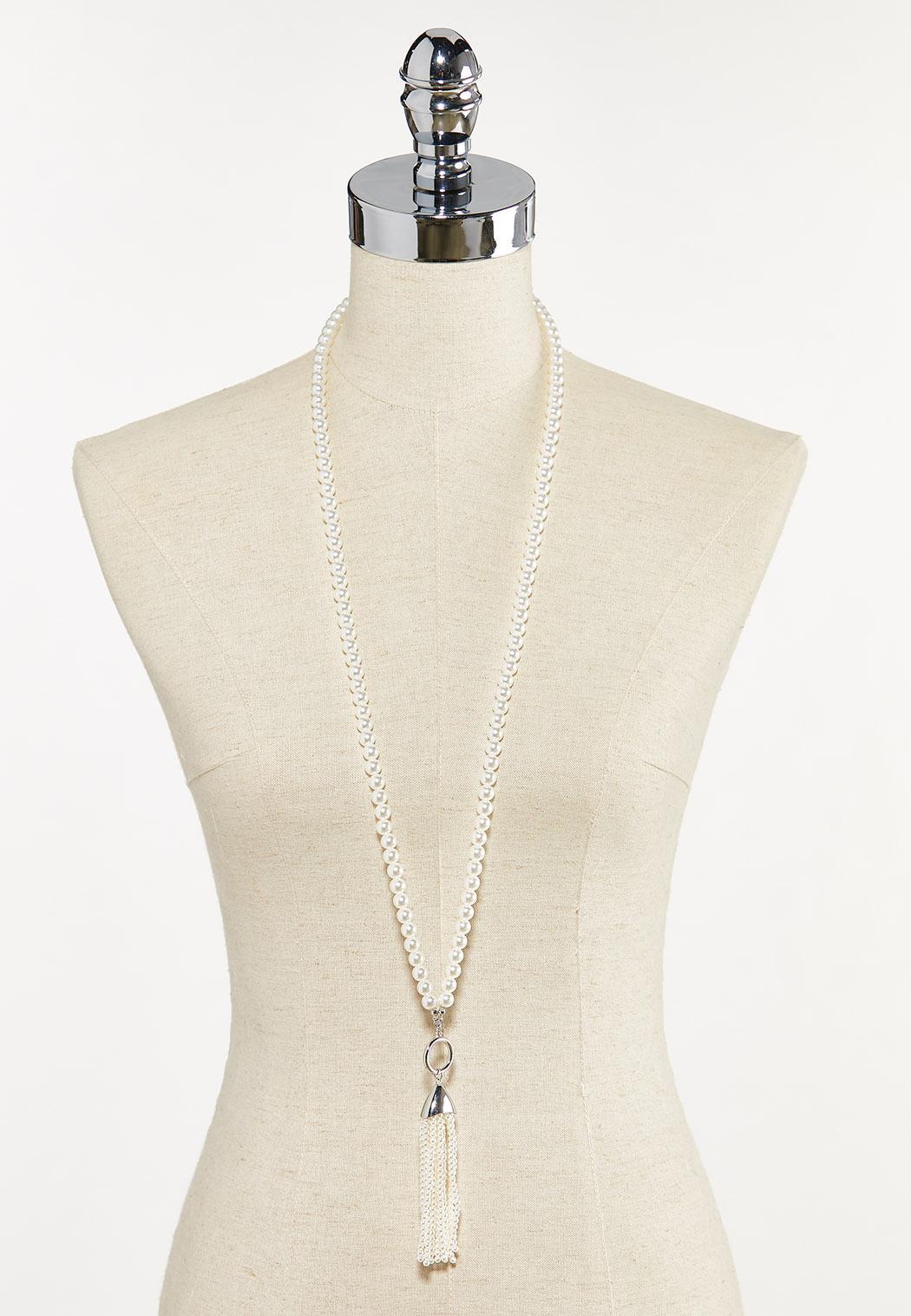 Pearl Tassel Necklace (Item #44679317)