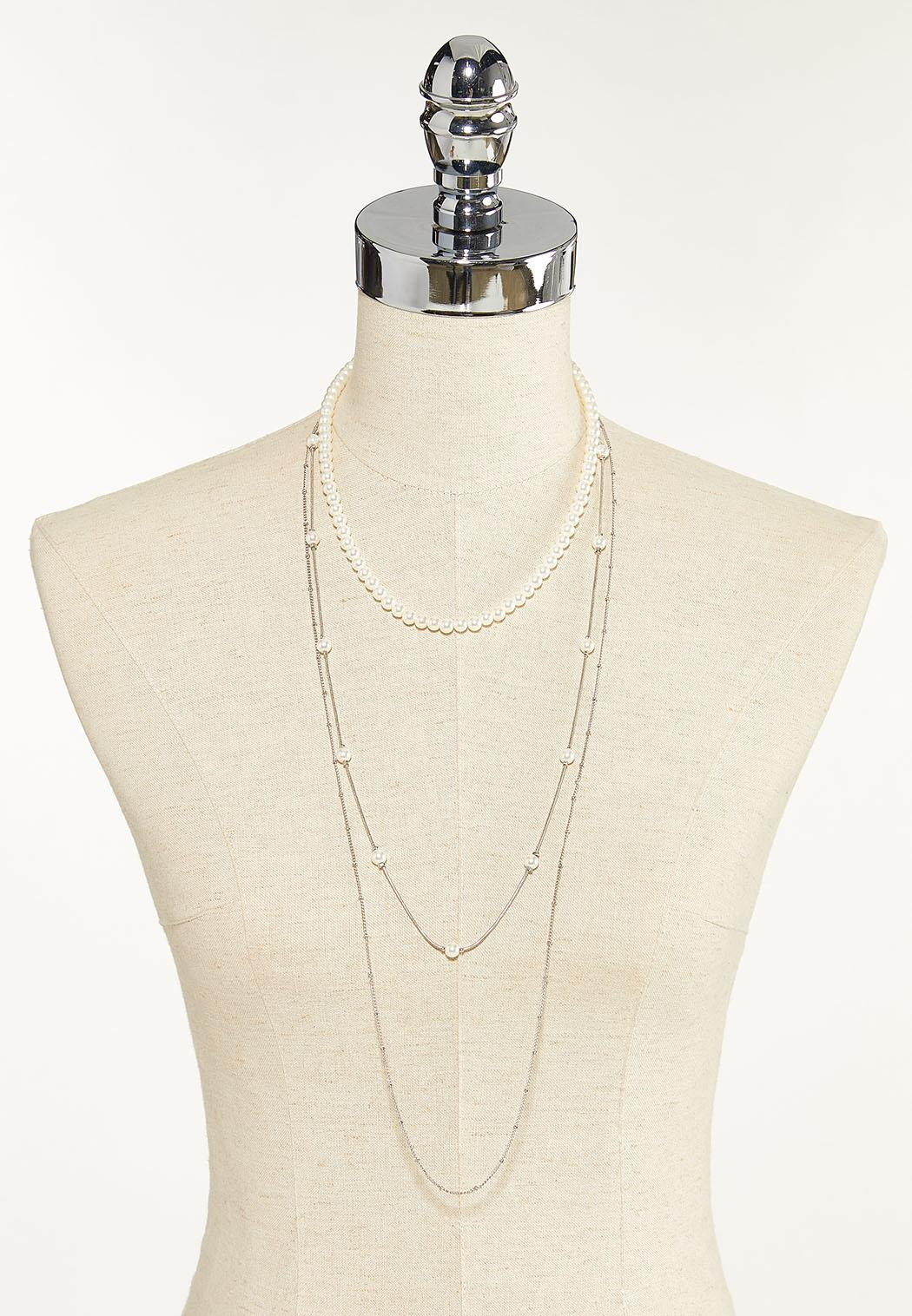 Delicate Pearl Chain Necklace (Item #44679391)