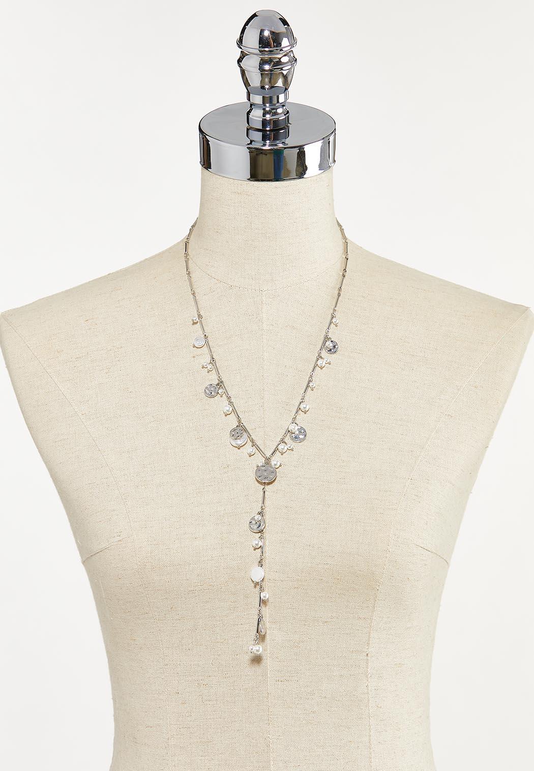 Pearl Disc Y-Necklace (Item #44679914)