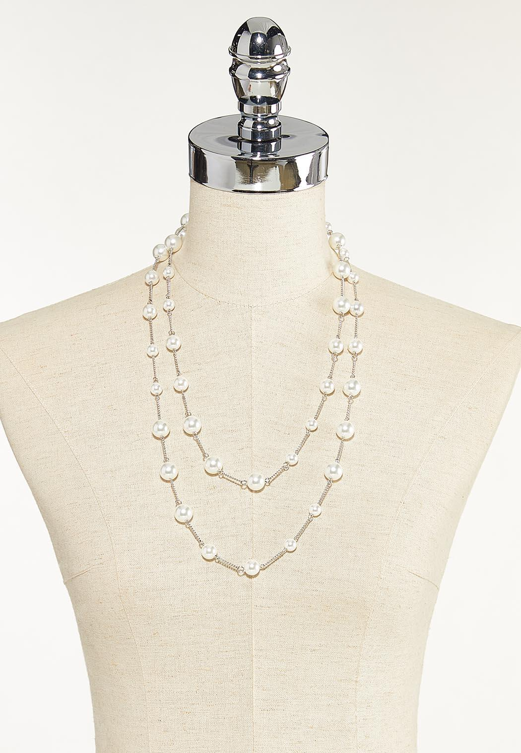 Layered Multi Pearl Necklace (Item #44680143)