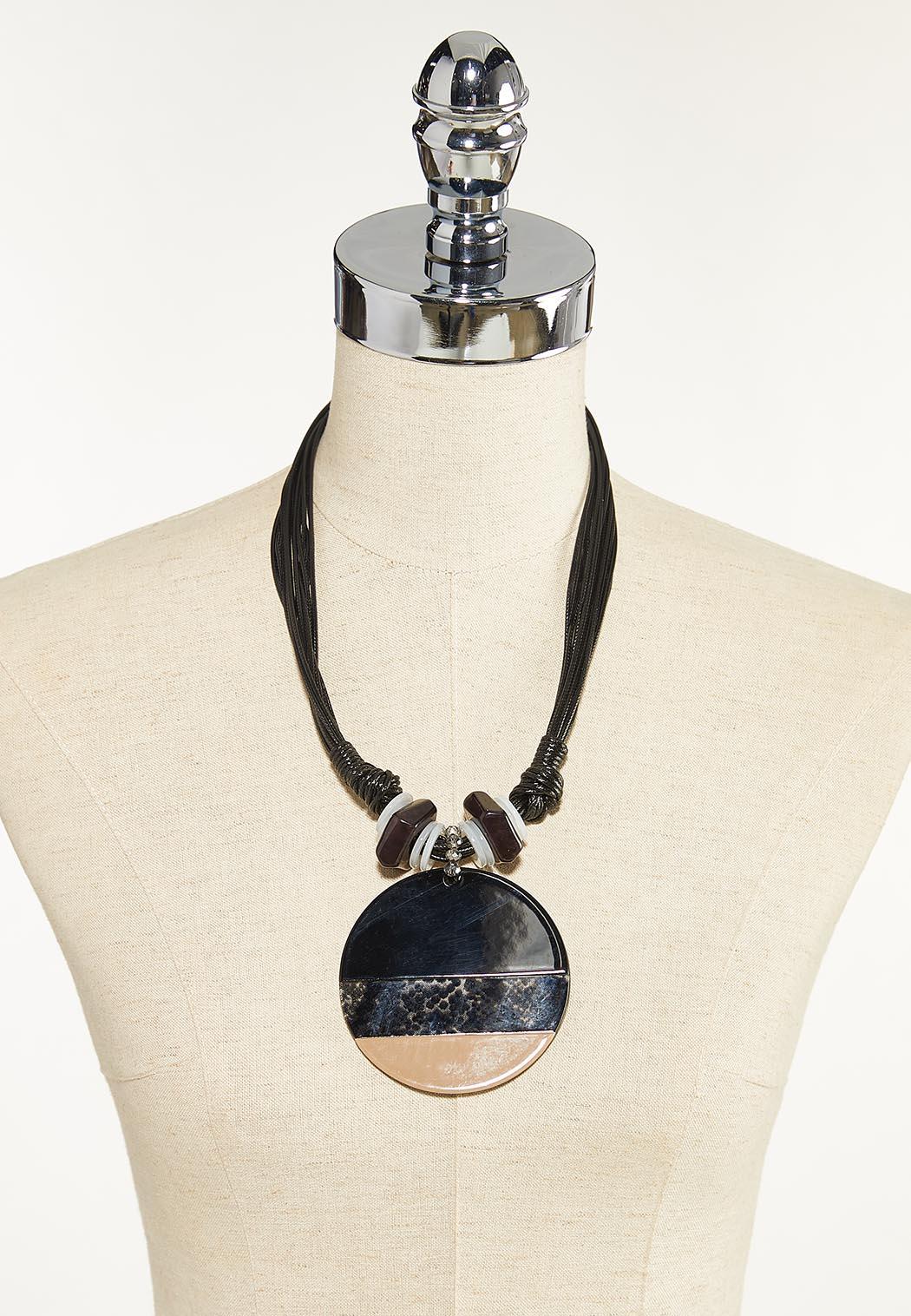 Large Circle Pendant Necklace (Item #44680263)