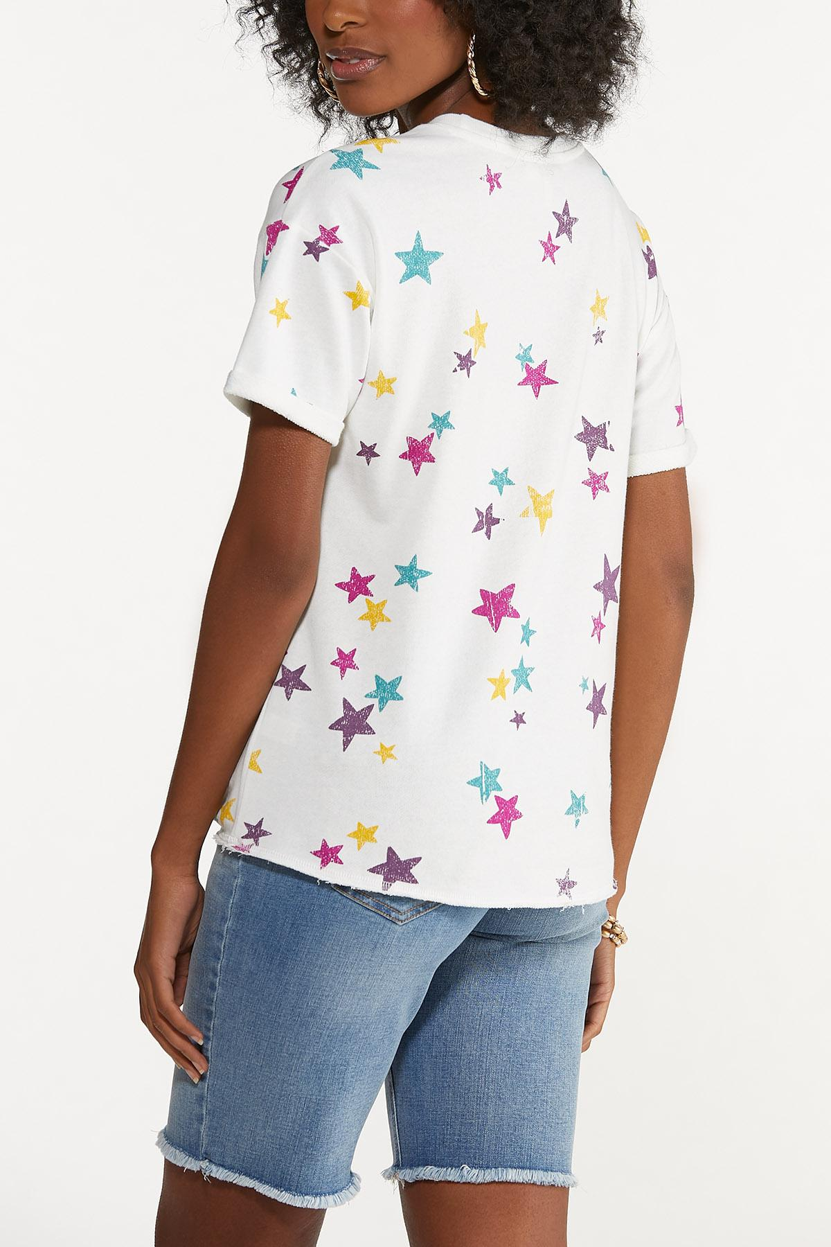 Plus Size Knotted Star Sweatshirt (Item #44680970)