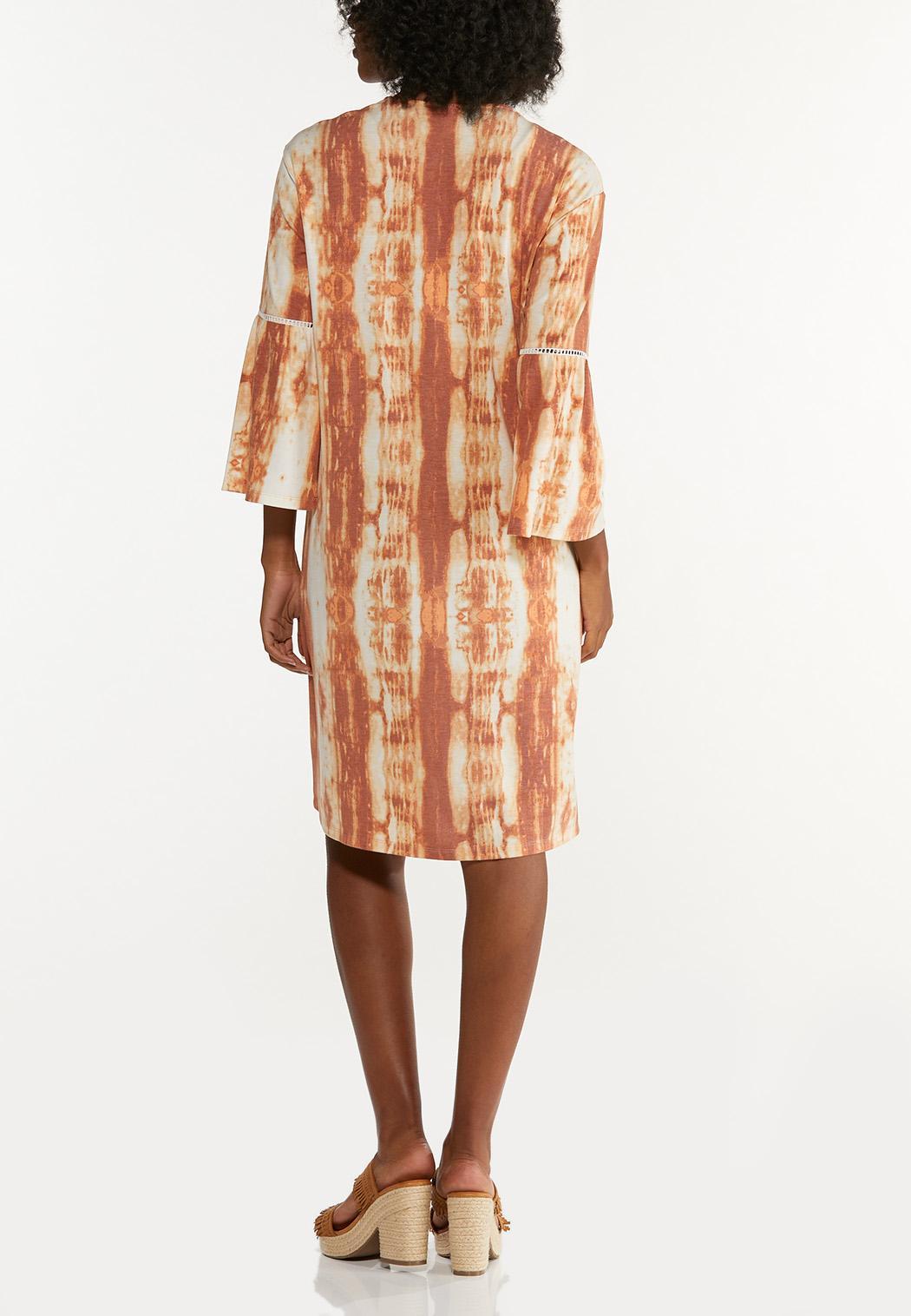 Plus Size Caramel Tie Dye Cardigan (Item #44681012)
