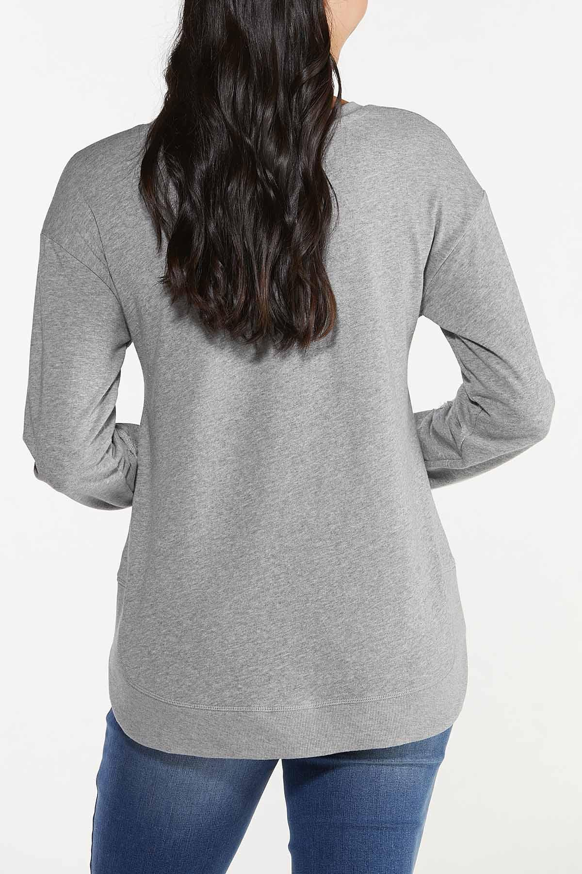 Gray Distressed Sweatshirt (Item #44682016)