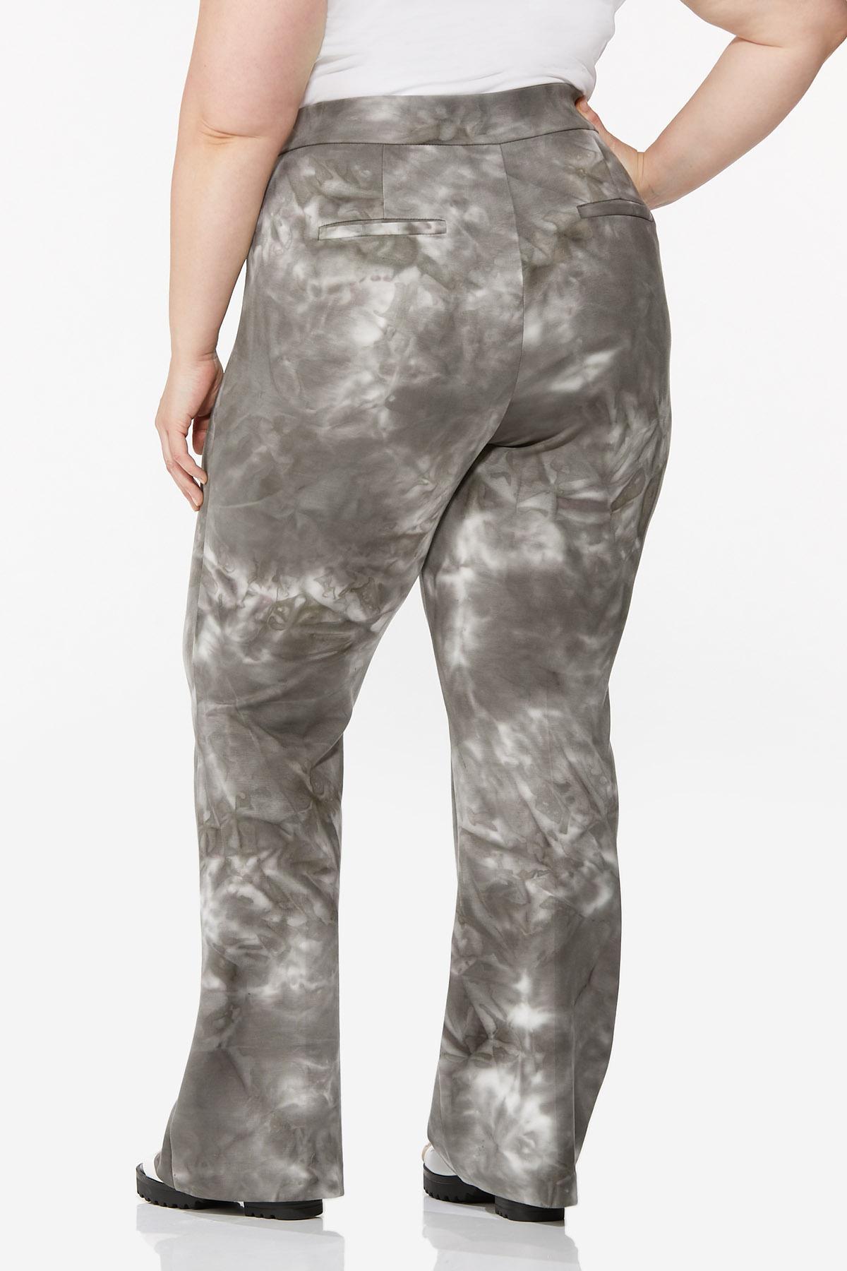 Plus Size Tie Dye Flare Pants (Item #44682089)