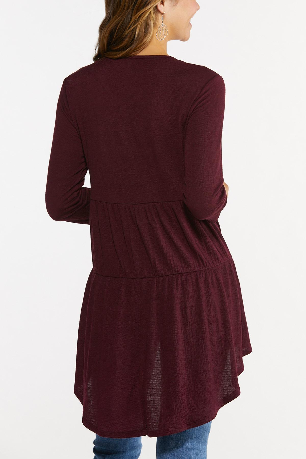 Plus Size Extreme Textured Tunic (Item #44682134)