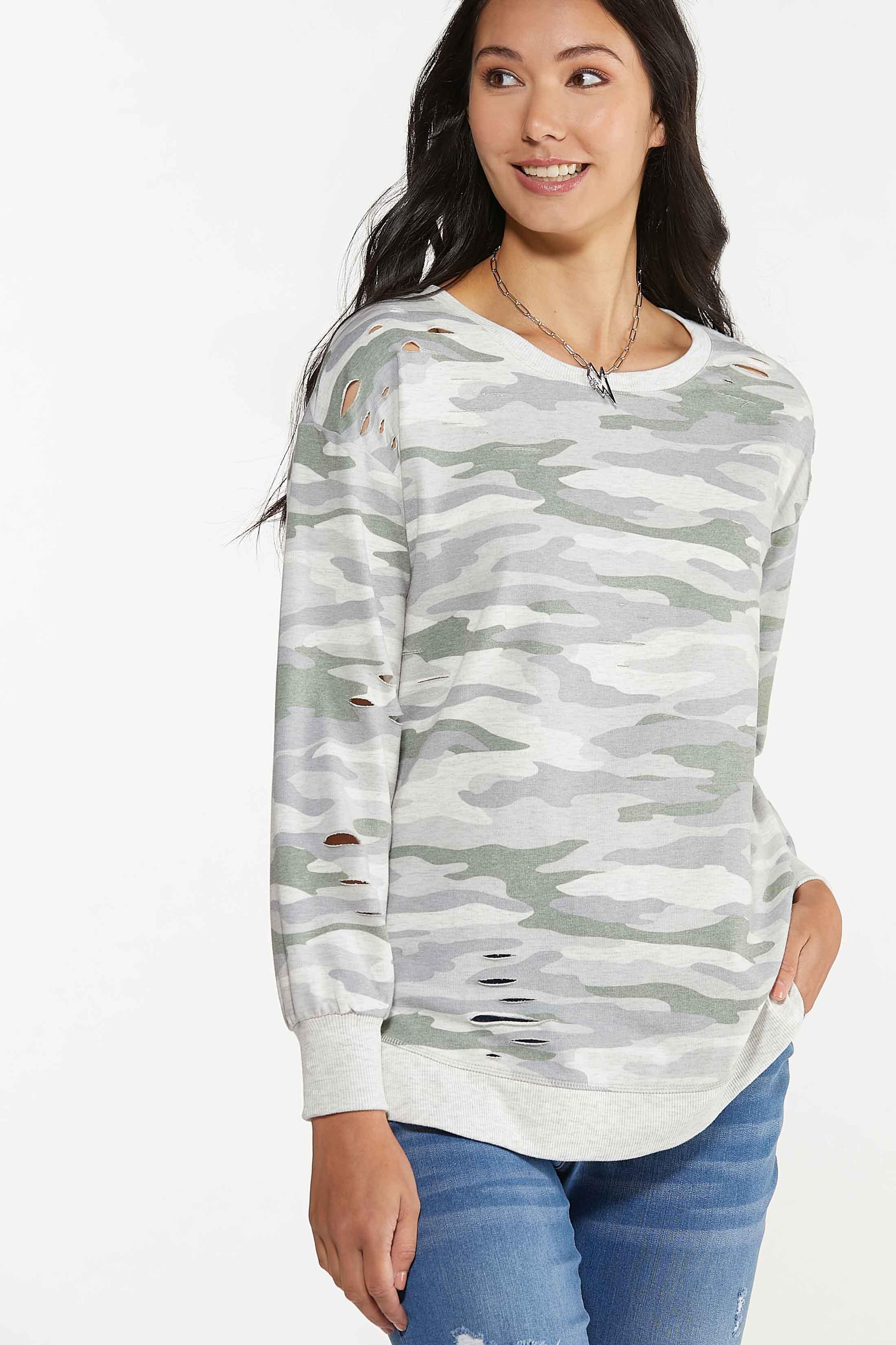 Distressed Camo Sweatshirt (Item #44682190)