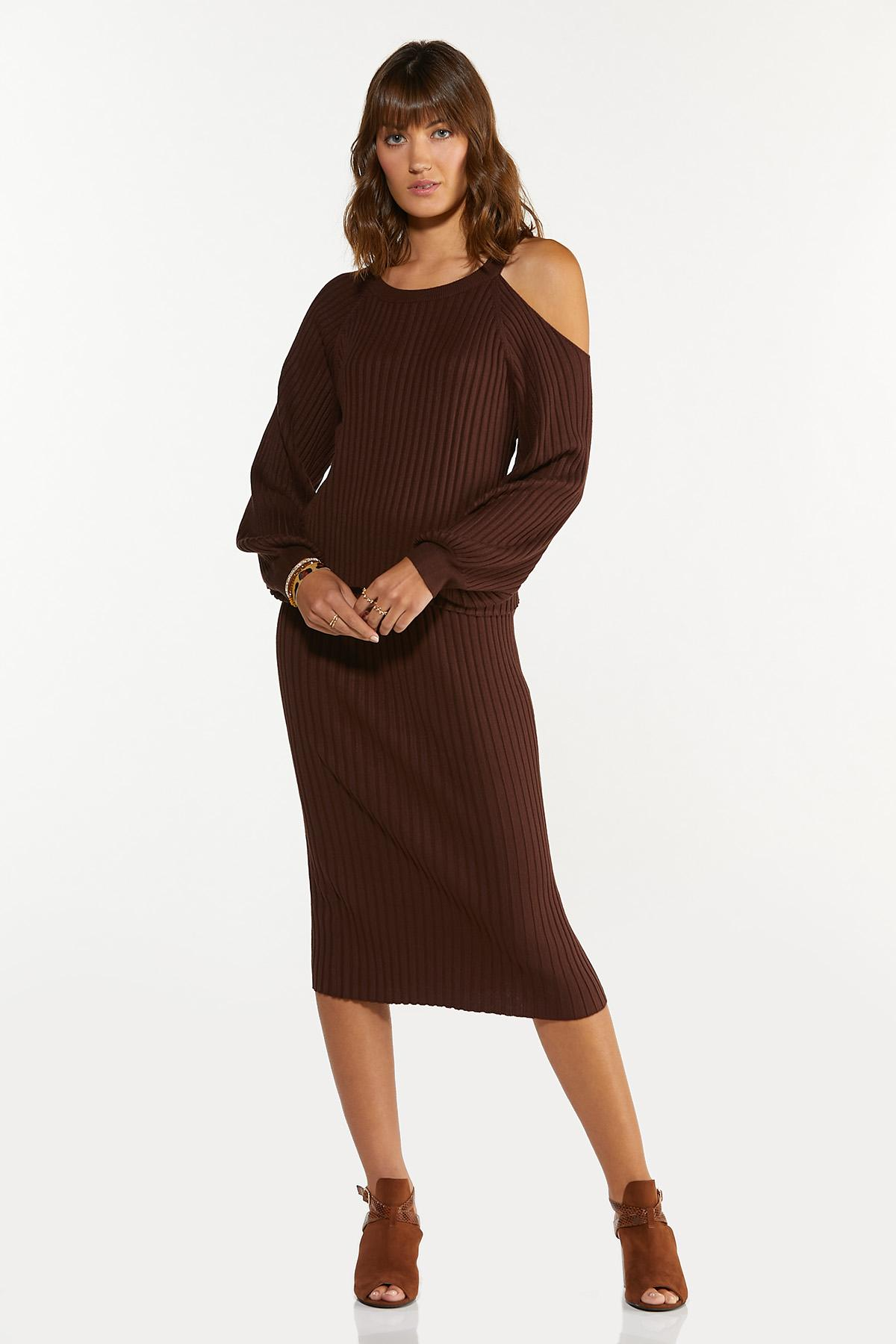 Plus Size Ribbed Sweater Skirt (Item #44682483)