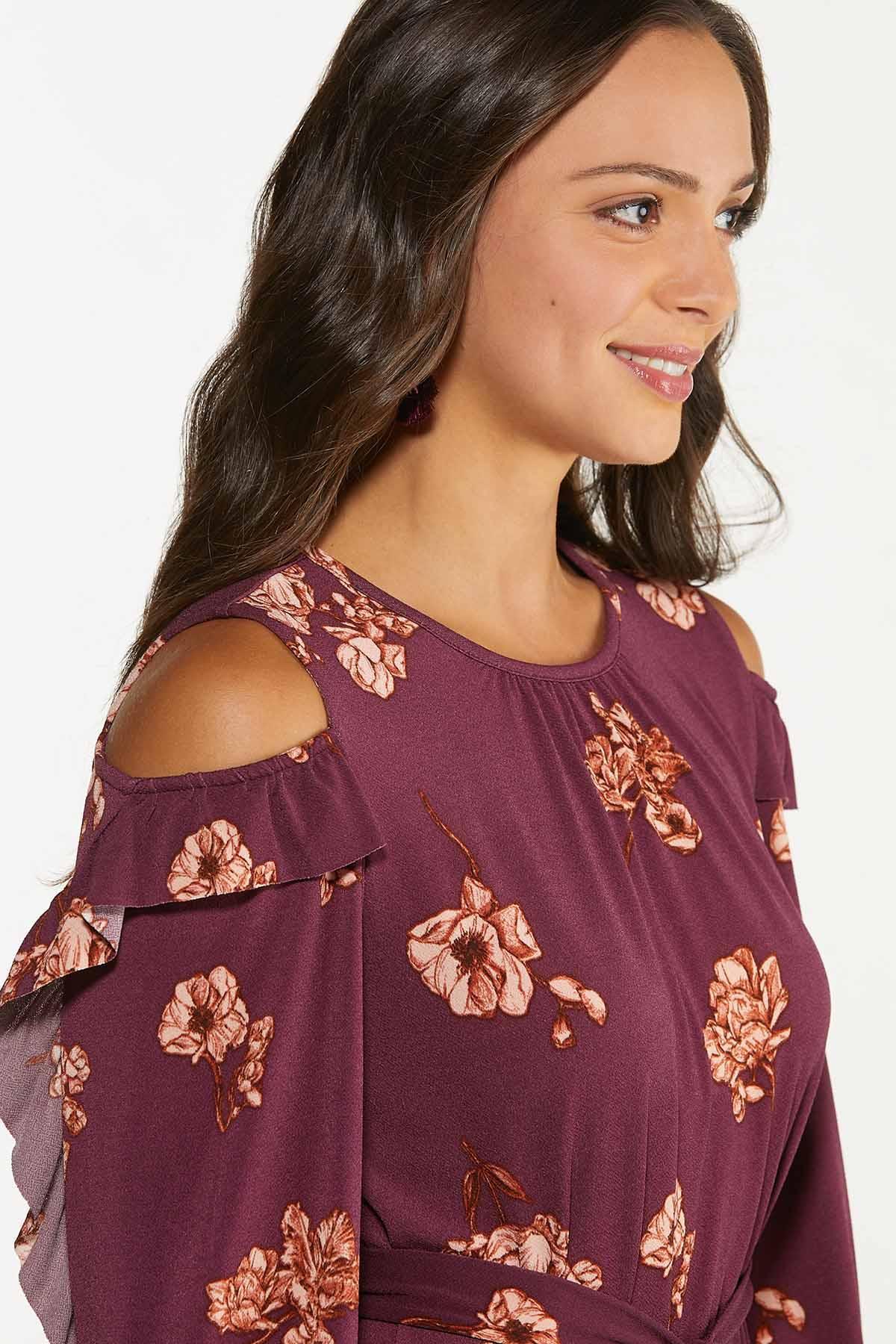 Plus Size Flounced Floral Dress (Item #44682528)