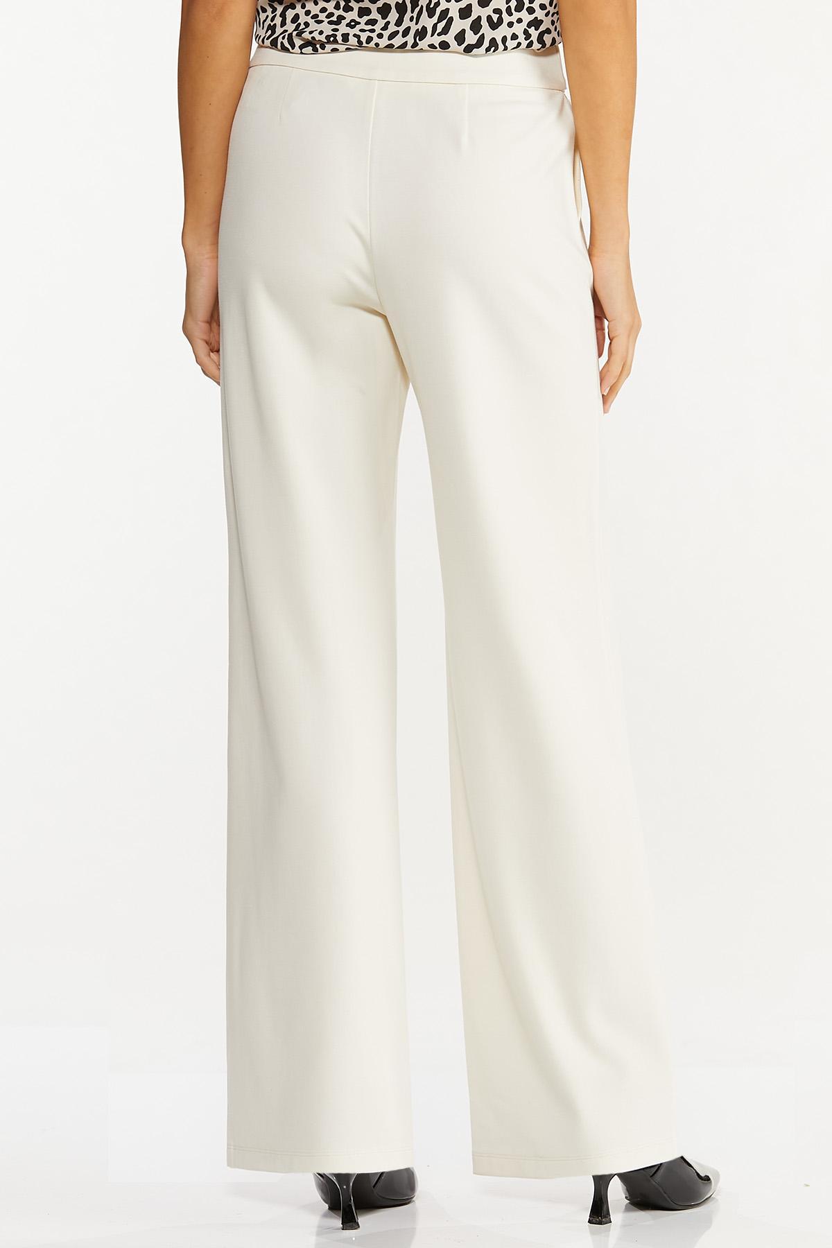 Petite Tie Waist Ponte Pants (Item #44684411)