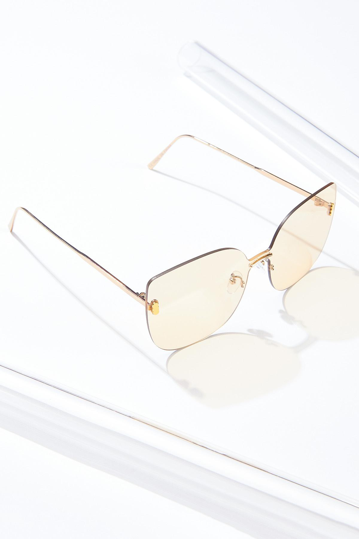 Gold Rimless Sunglasses (Item #44684843)