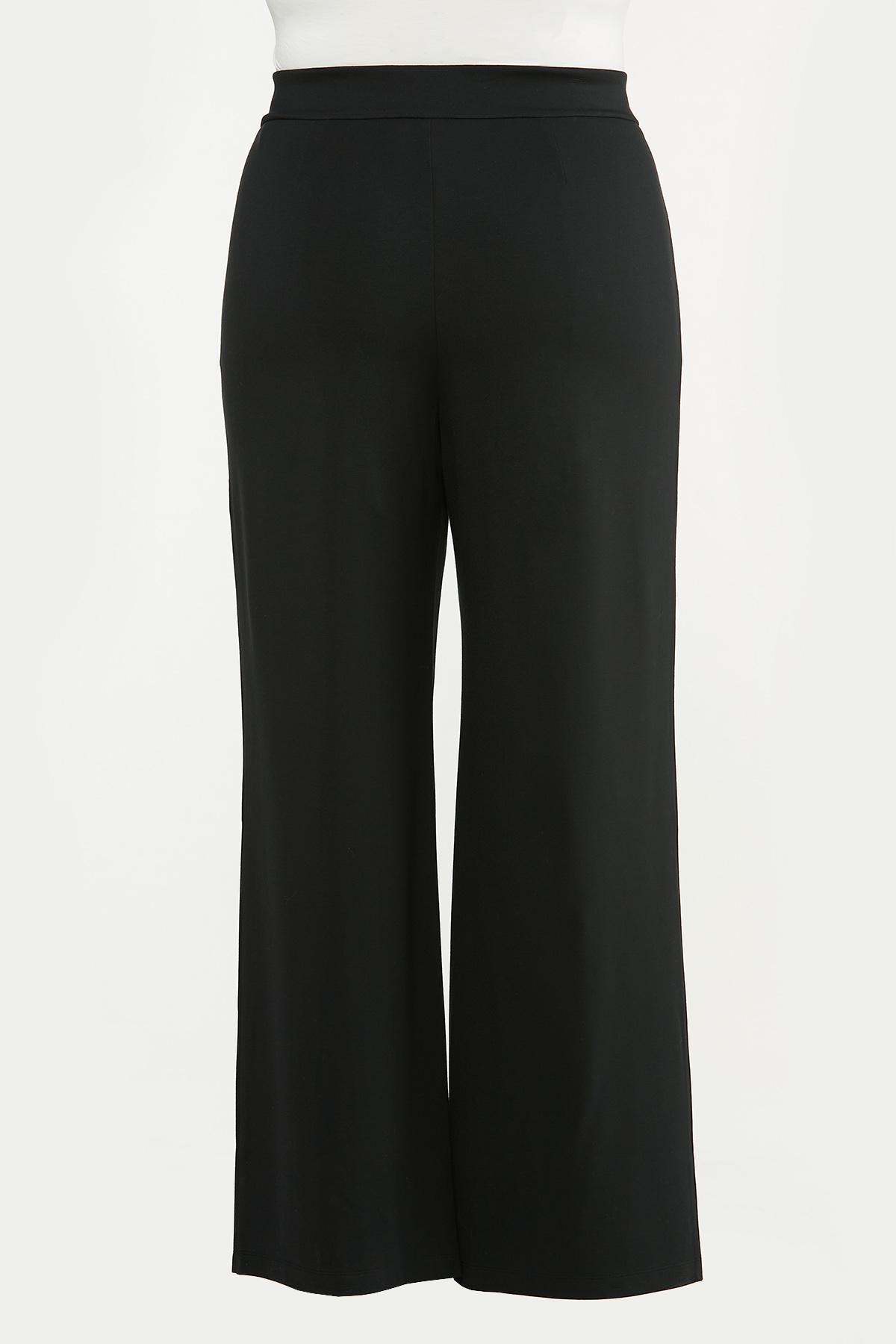 Plus Size Tie Waist Ponte Pants (Item #44684873)
