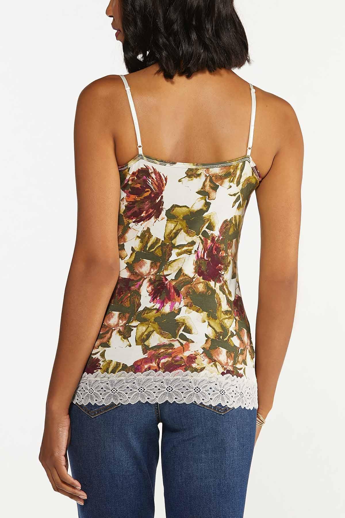 Plus Size Floral Lace Cami (Item #44685347)