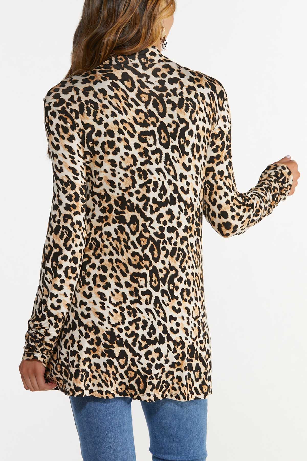 Plus Size Leopard Cardigan (Item #44685617)