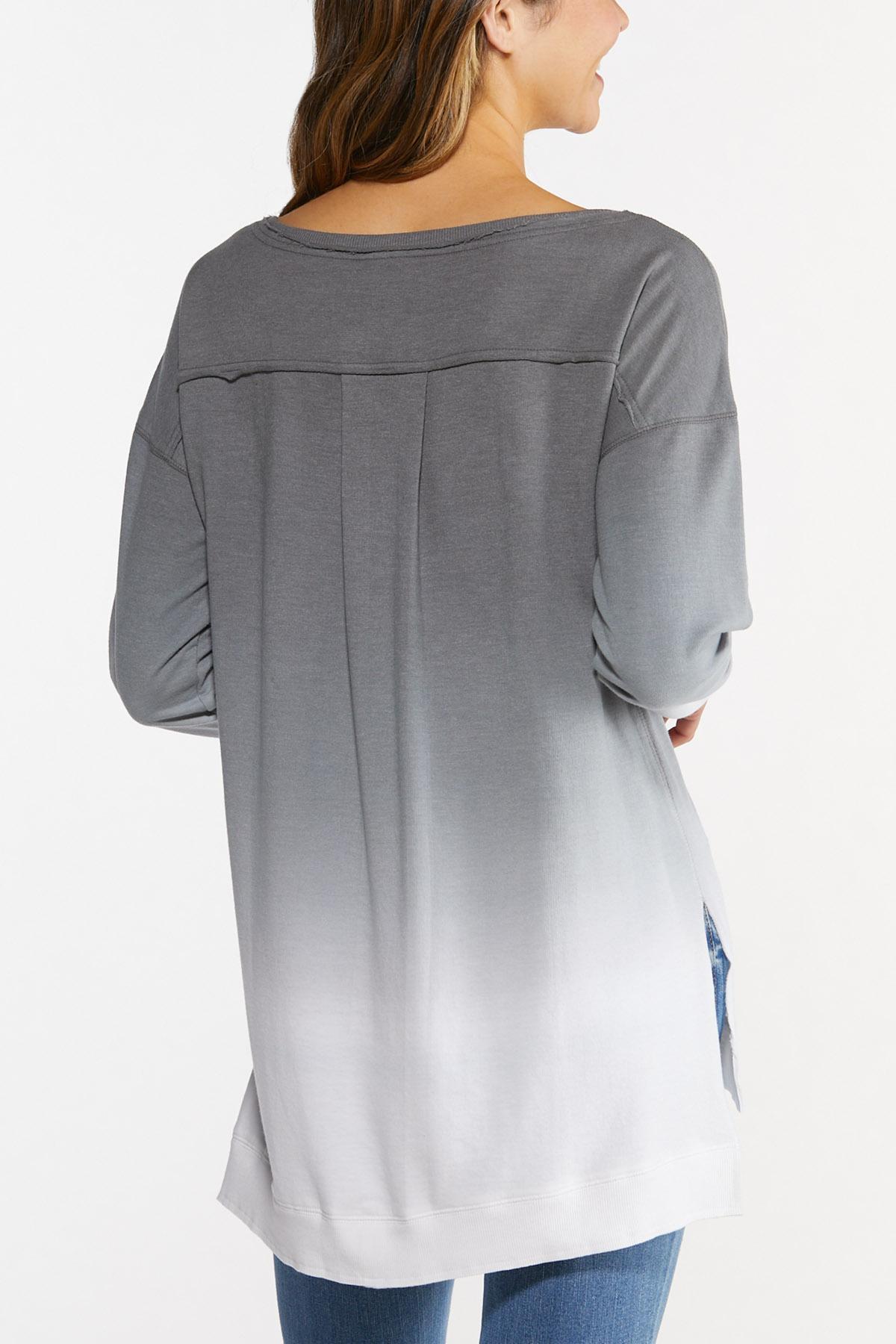 Plus Size Ombre Sweatshirt (Item #44686035)