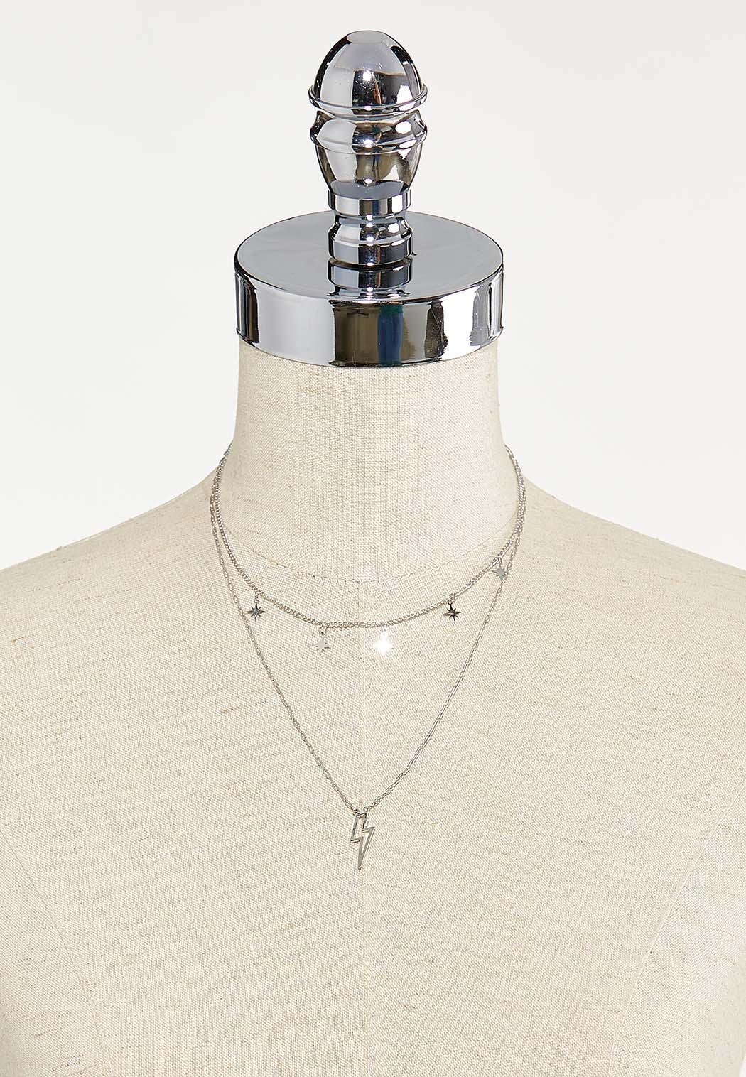 Layered Lightening Bolt Necklace (Item #44687556)