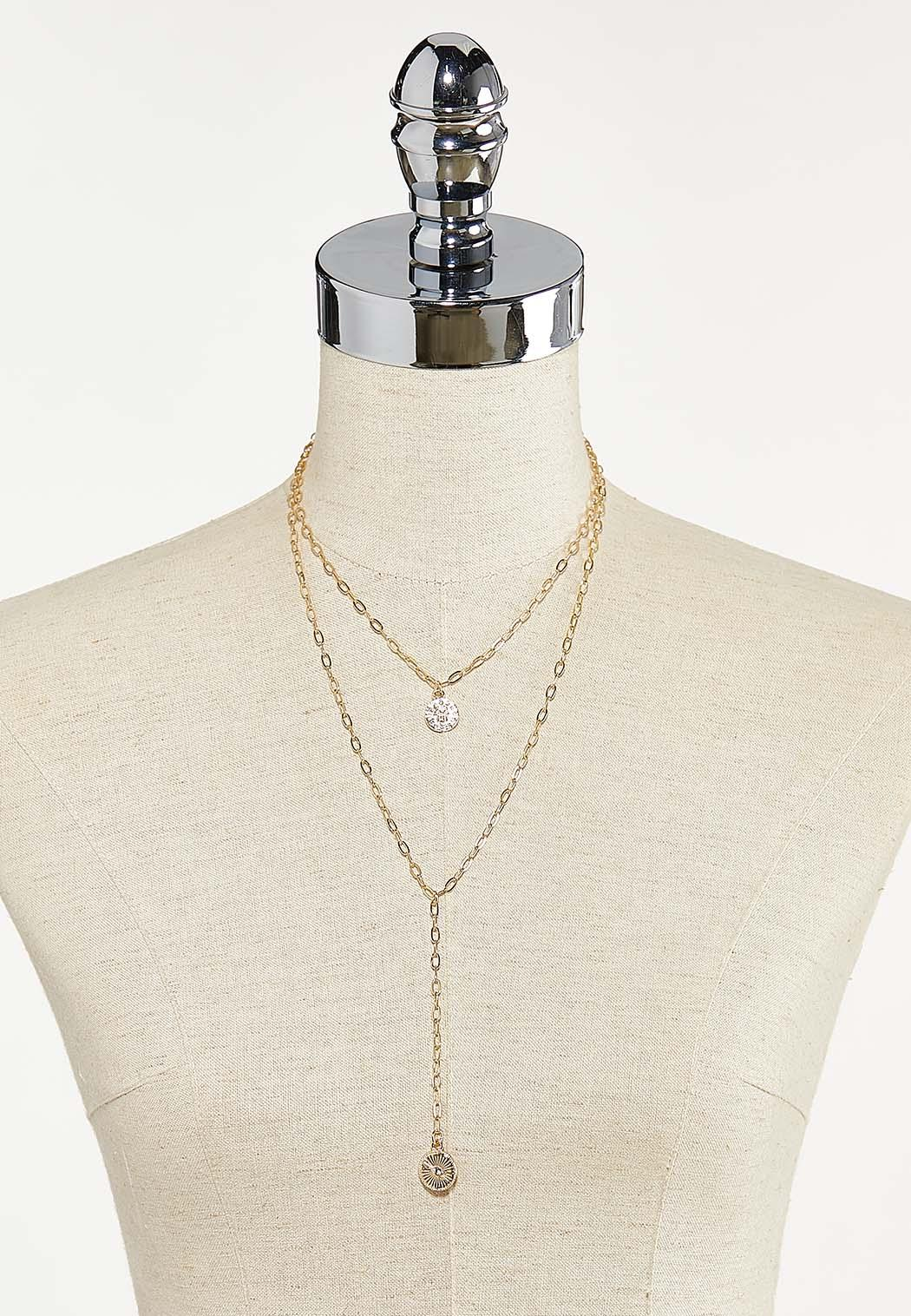 Delicate Gold Layered Y-Necklace (Item #44687558)
