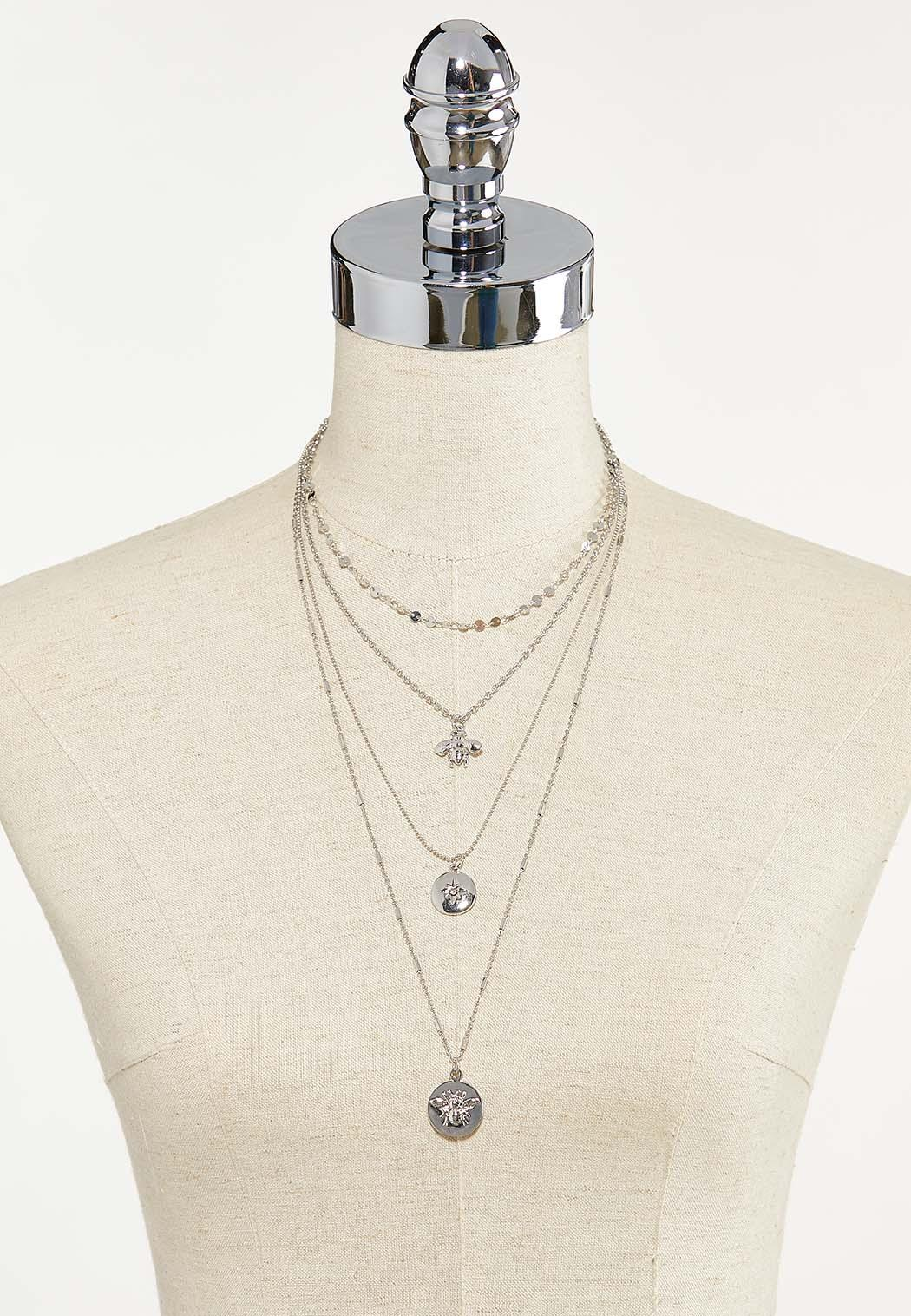 Layered Chain Pendant Necklace (Item #44687564)