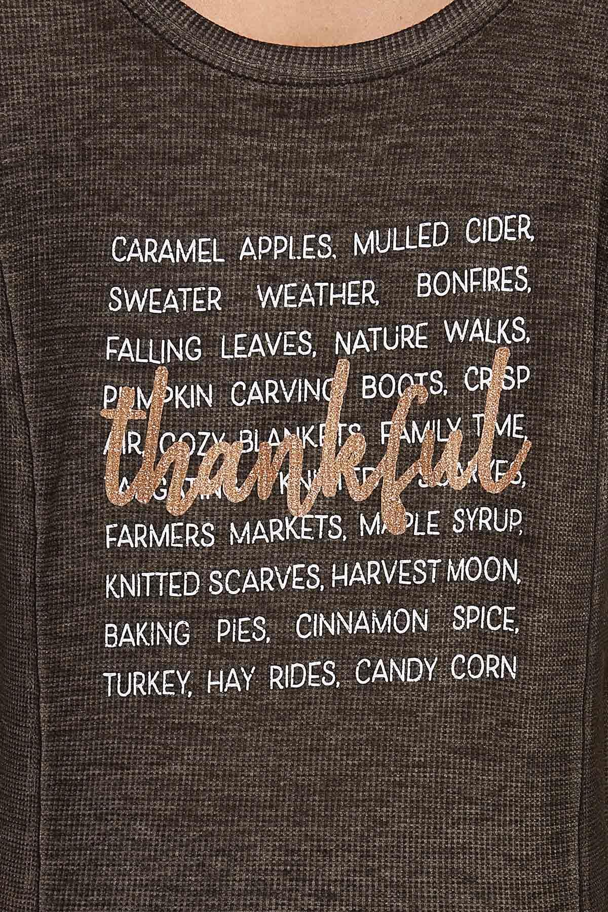 Plus Size Thankful List Top (Item #44687754)