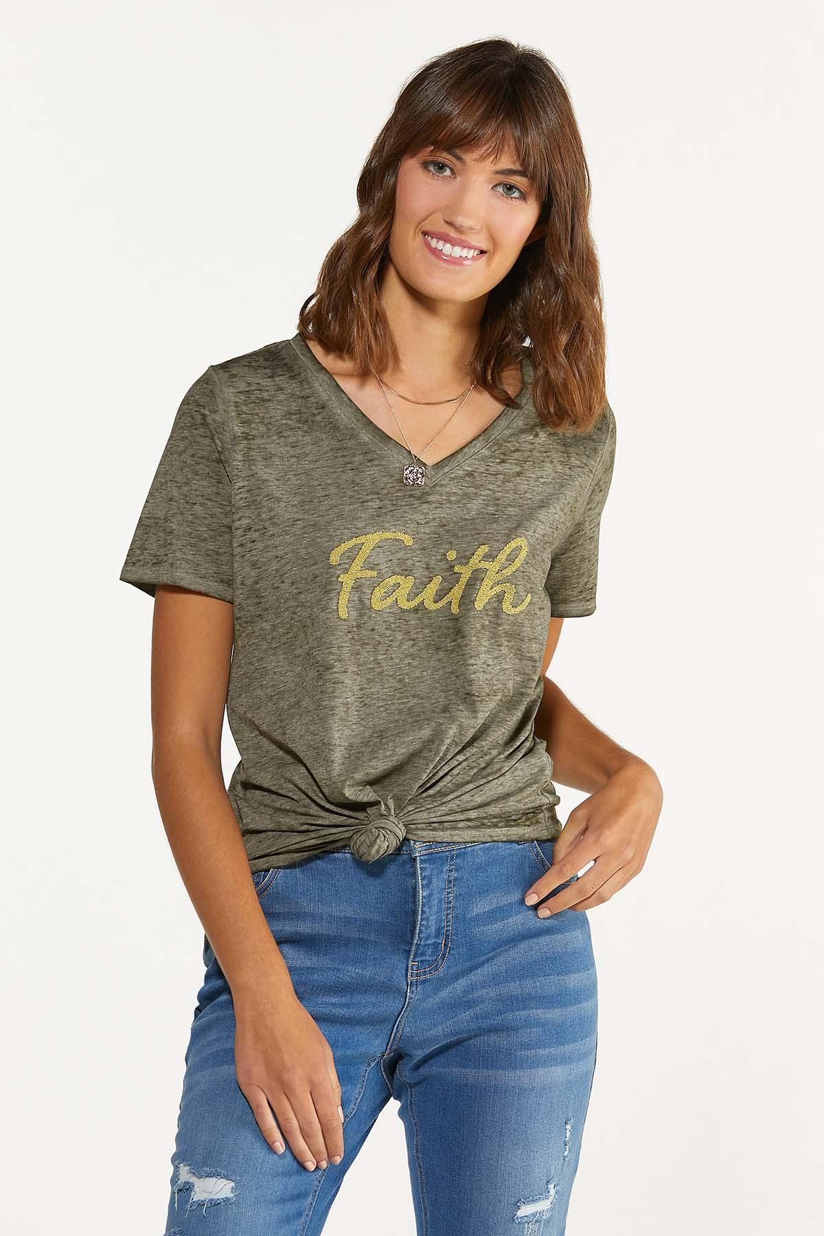 Plus Size Beaded Faith Tee (Item #44687819)
