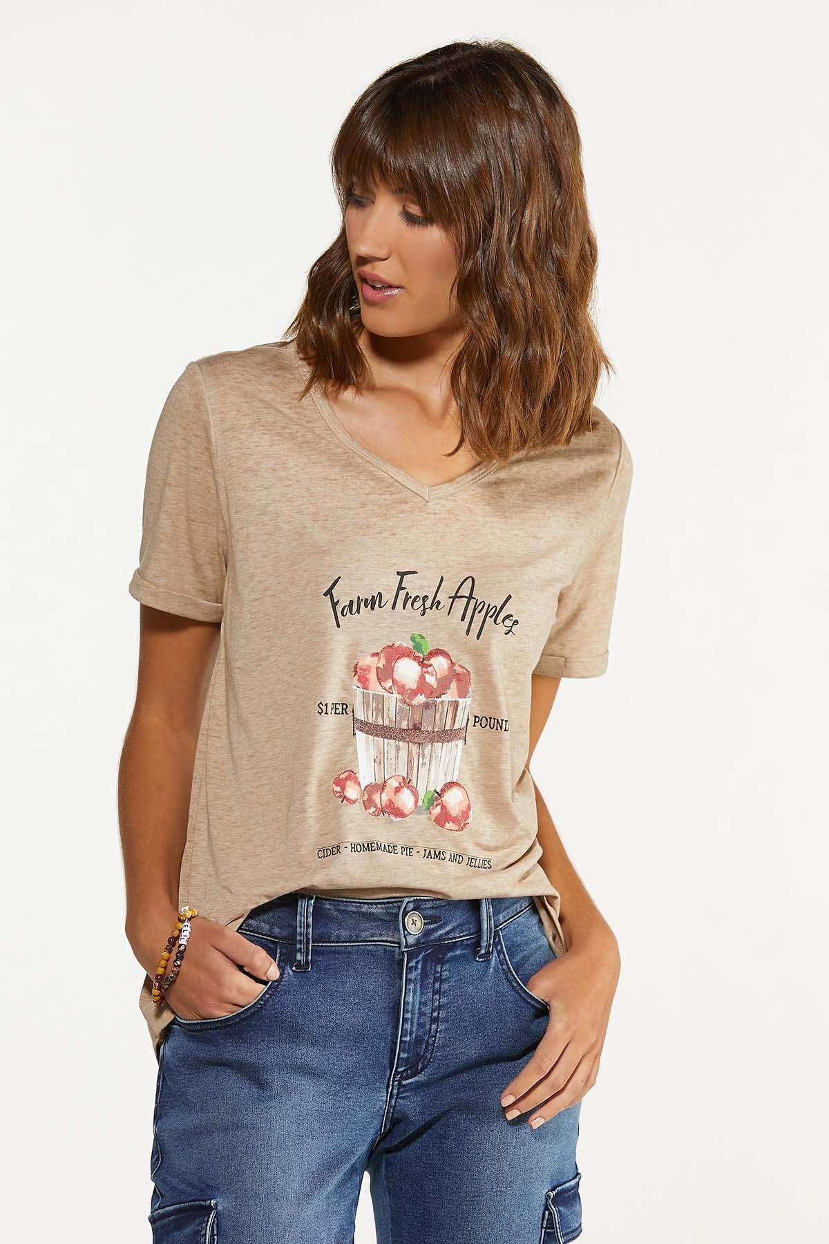 Plus Size Fresh Farm Apple Tee (Item #44687889)