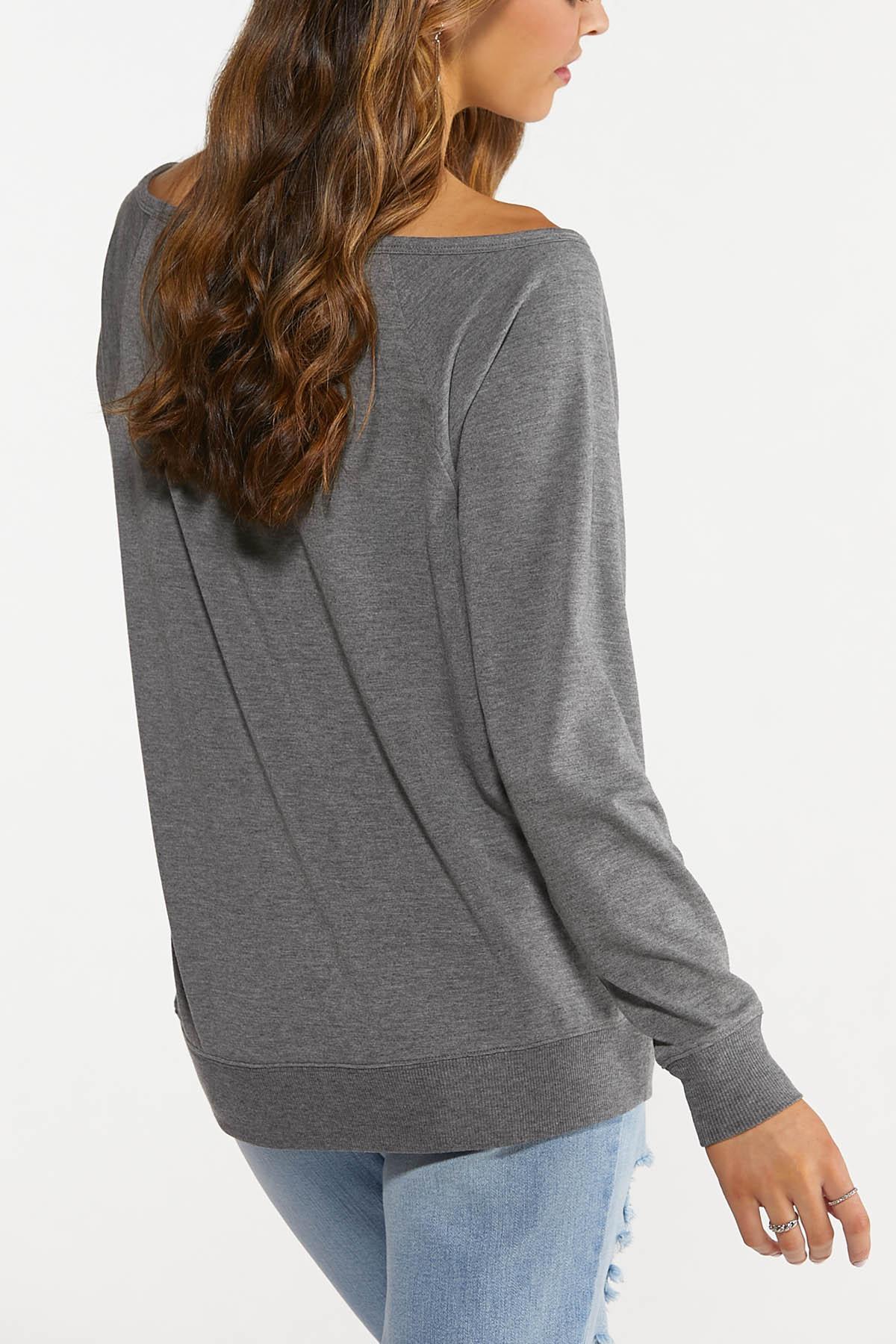 Plus Size Slouch Football Sweatshirt (Item #44688103)